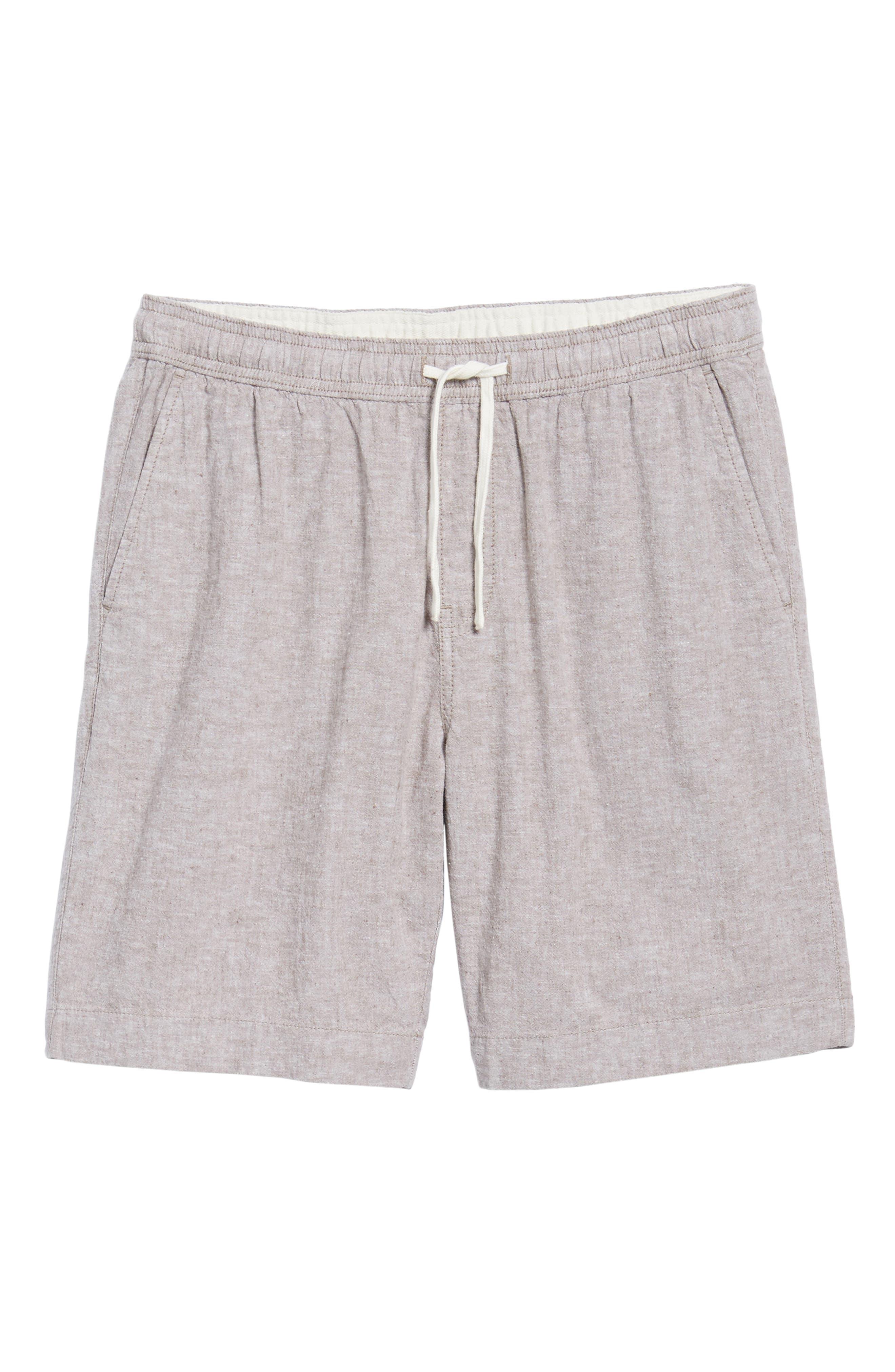 Drawstring Linen Blend Shorts,                             Alternate thumbnail 6, color,                             235