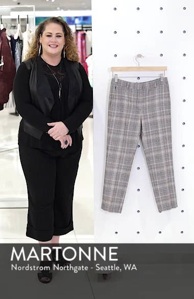 Plaid Slim Leg Crop Pants, sales video thumbnail
