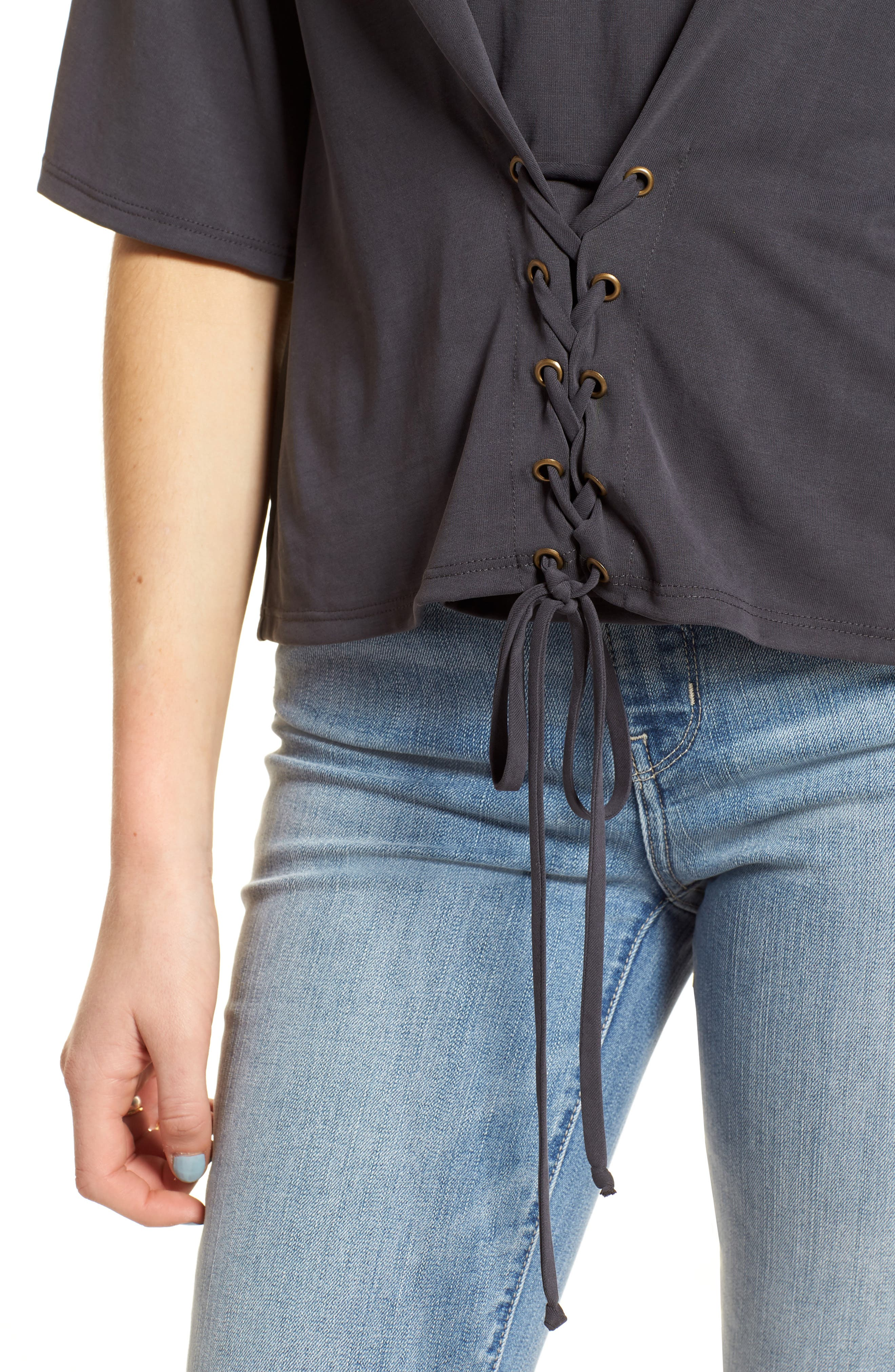 Lace-Up Tee,                             Alternate thumbnail 8, color,