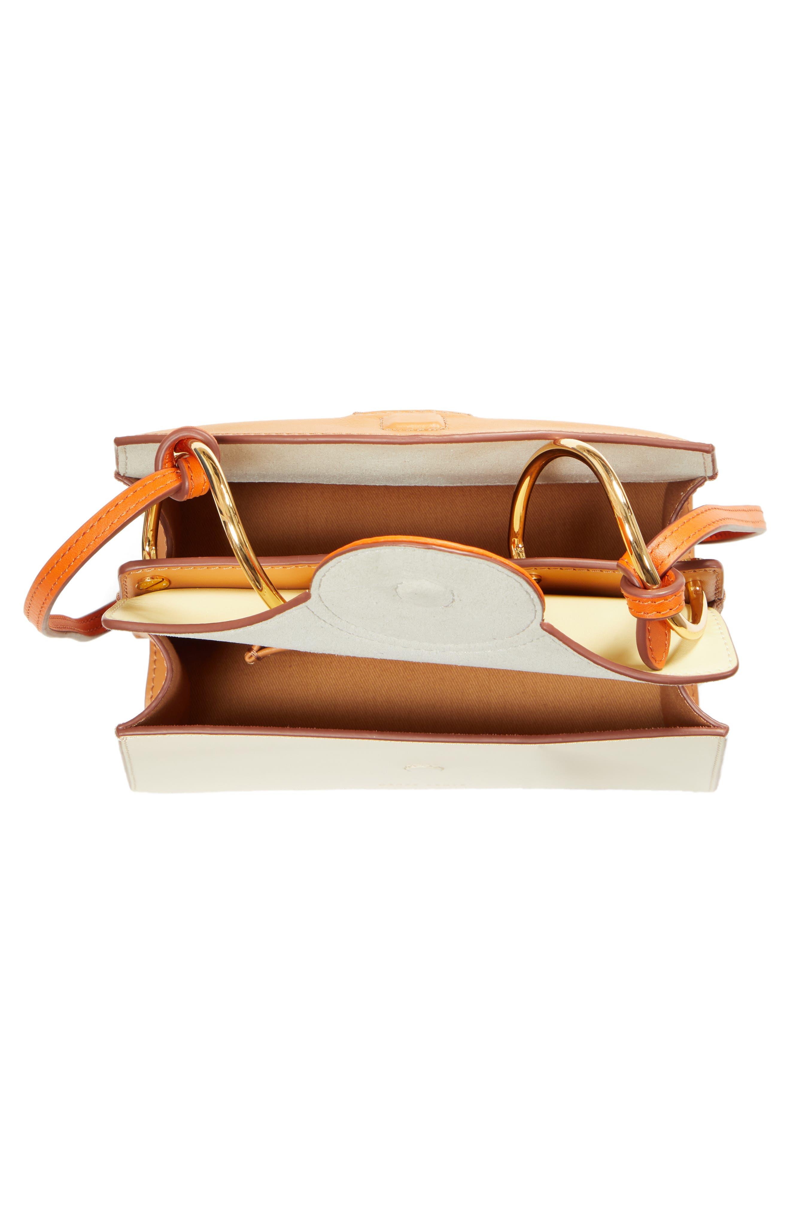 DANSE LENTE,                             Mini Phoebe Leather Bag,                             Alternate thumbnail 4, color,                             TOFFEE/ MARSHMALLOW
