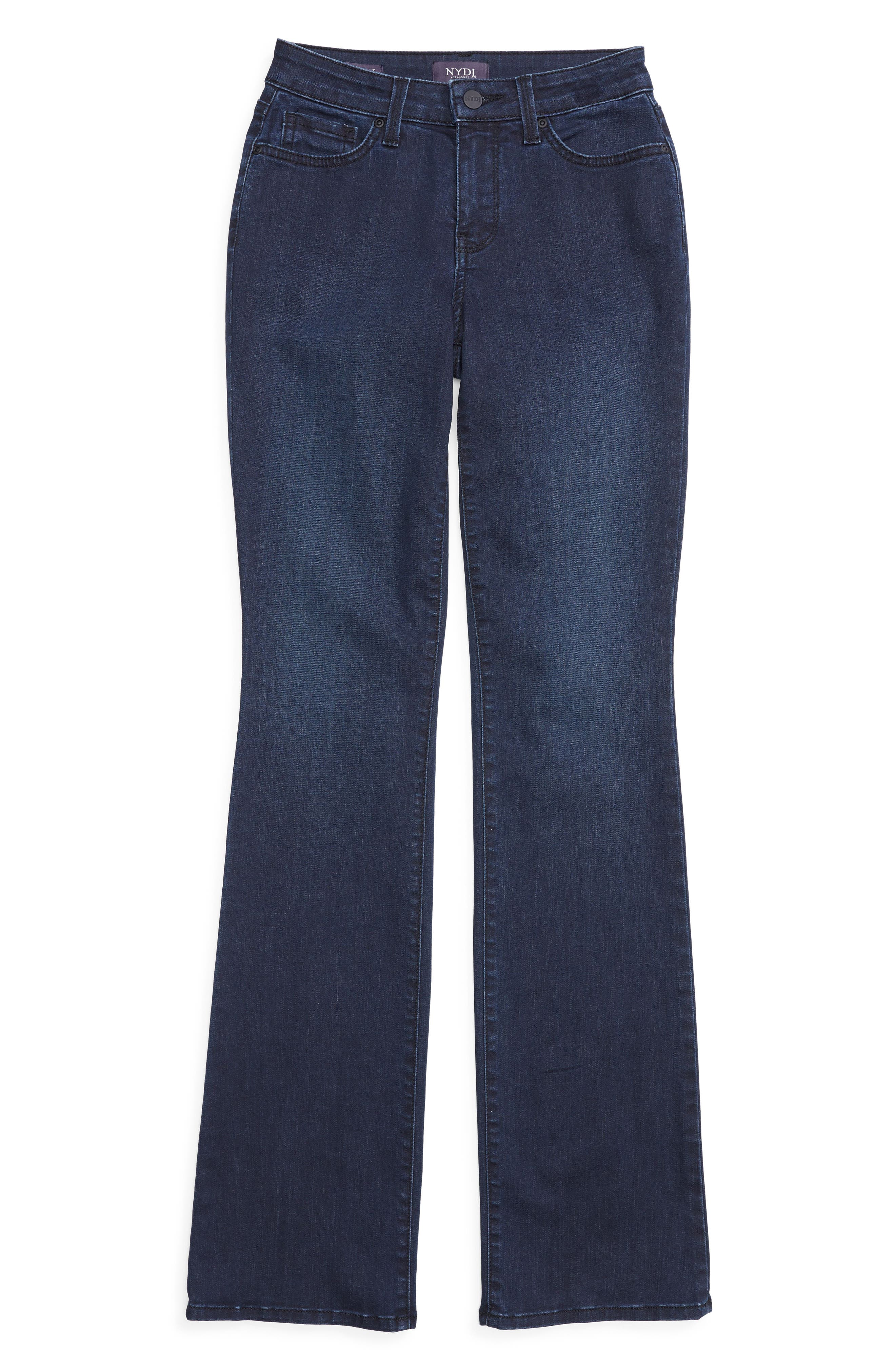 Barbara Stretch Bootcut Jeans,                             Alternate thumbnail 4, color,                             FALLEN