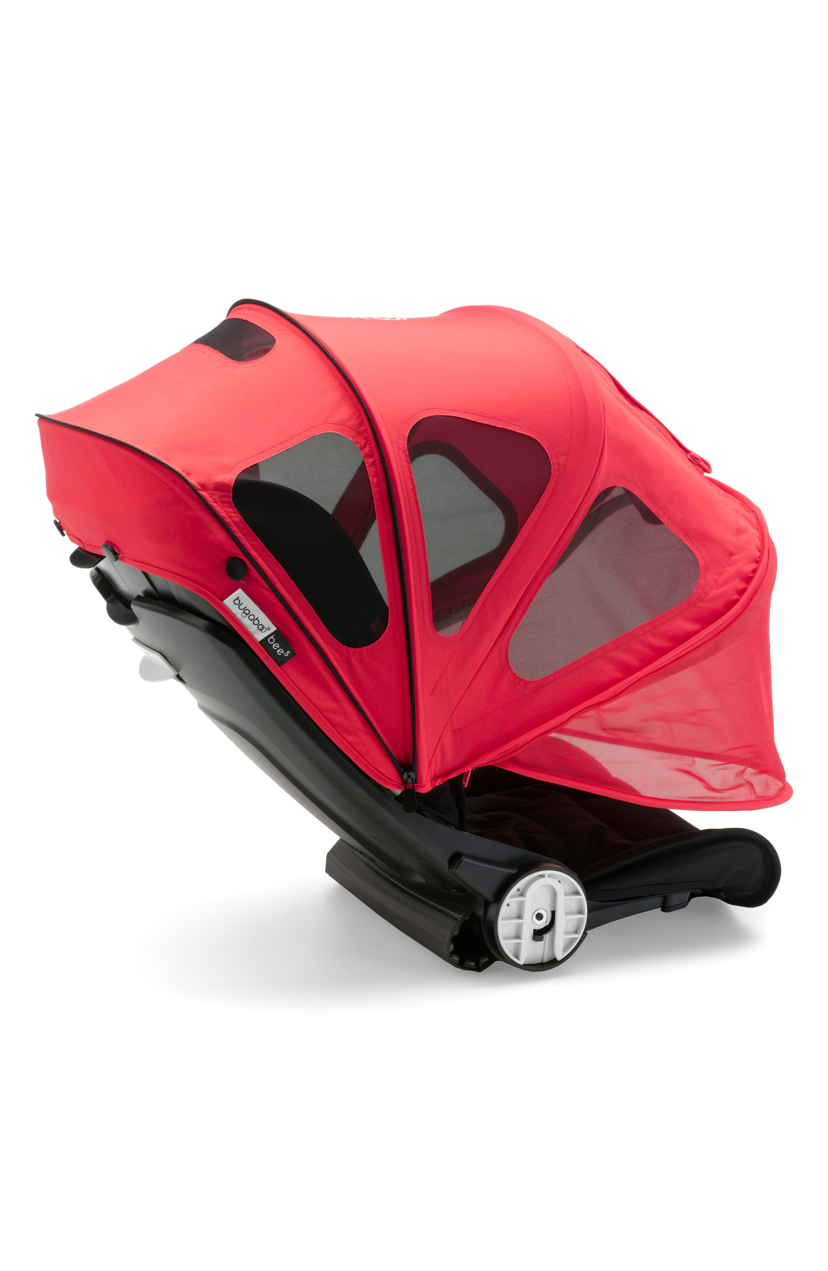 Breezy Sun Canopy for Bugaboo Bee Strollers,                             Main thumbnail 1, color,                             NEON RED