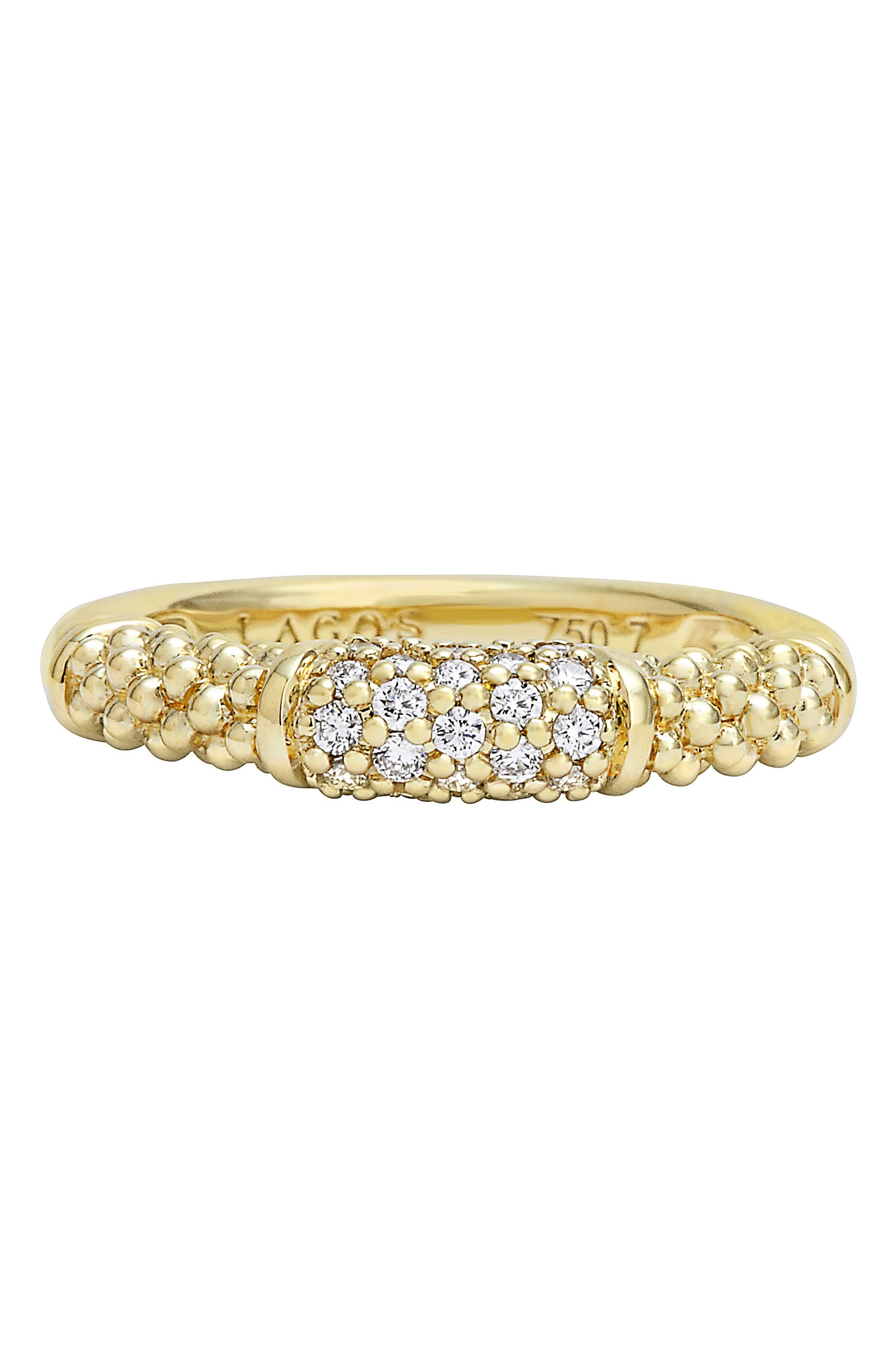 Caviar Diamond Ring,                             Alternate thumbnail 5, color,                             GOLD
