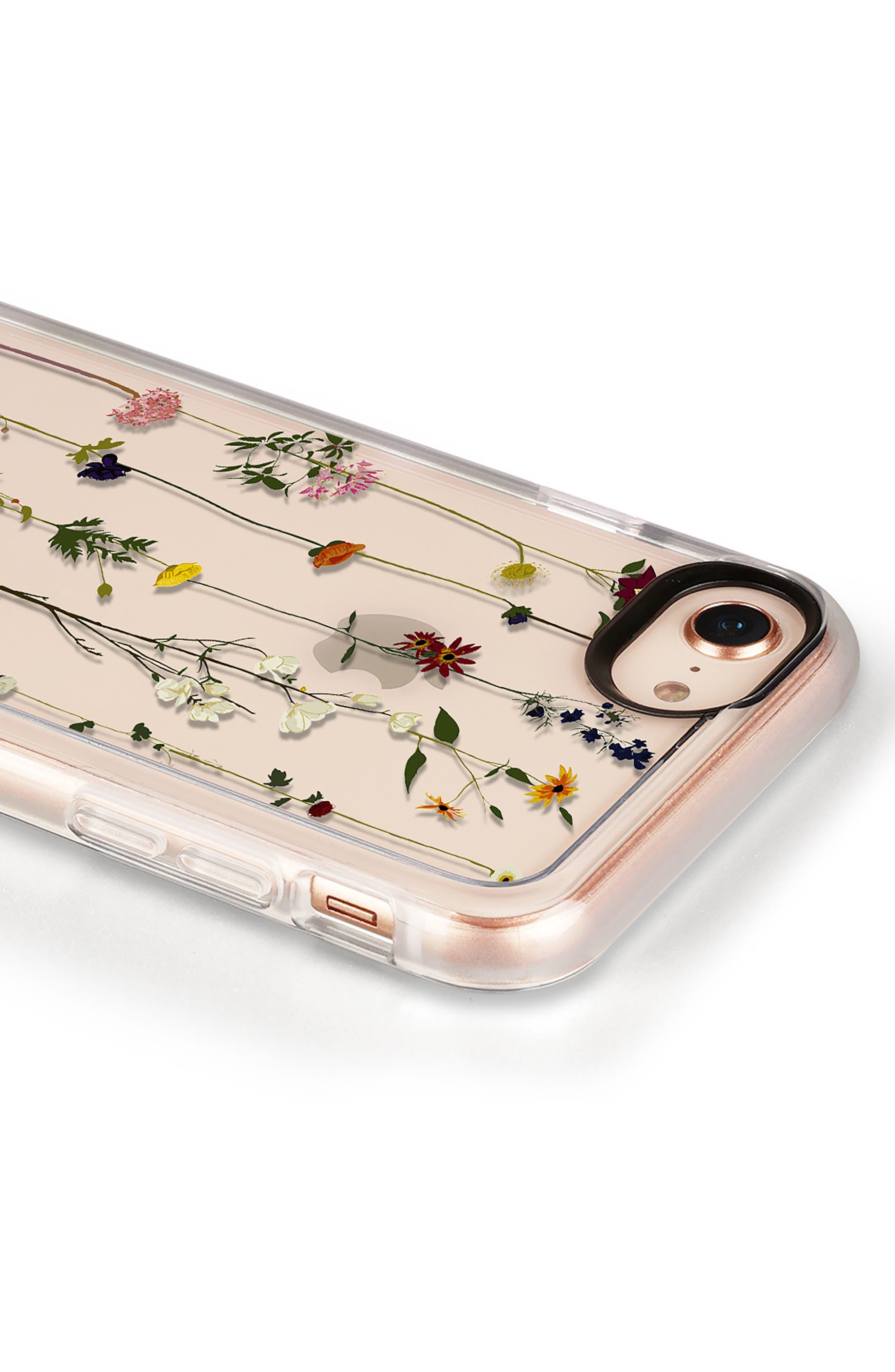 Floral Grip iPhone 7/8 & 7/8 Plus Case,                             Alternate thumbnail 4, color,                             CLEAR MULTI