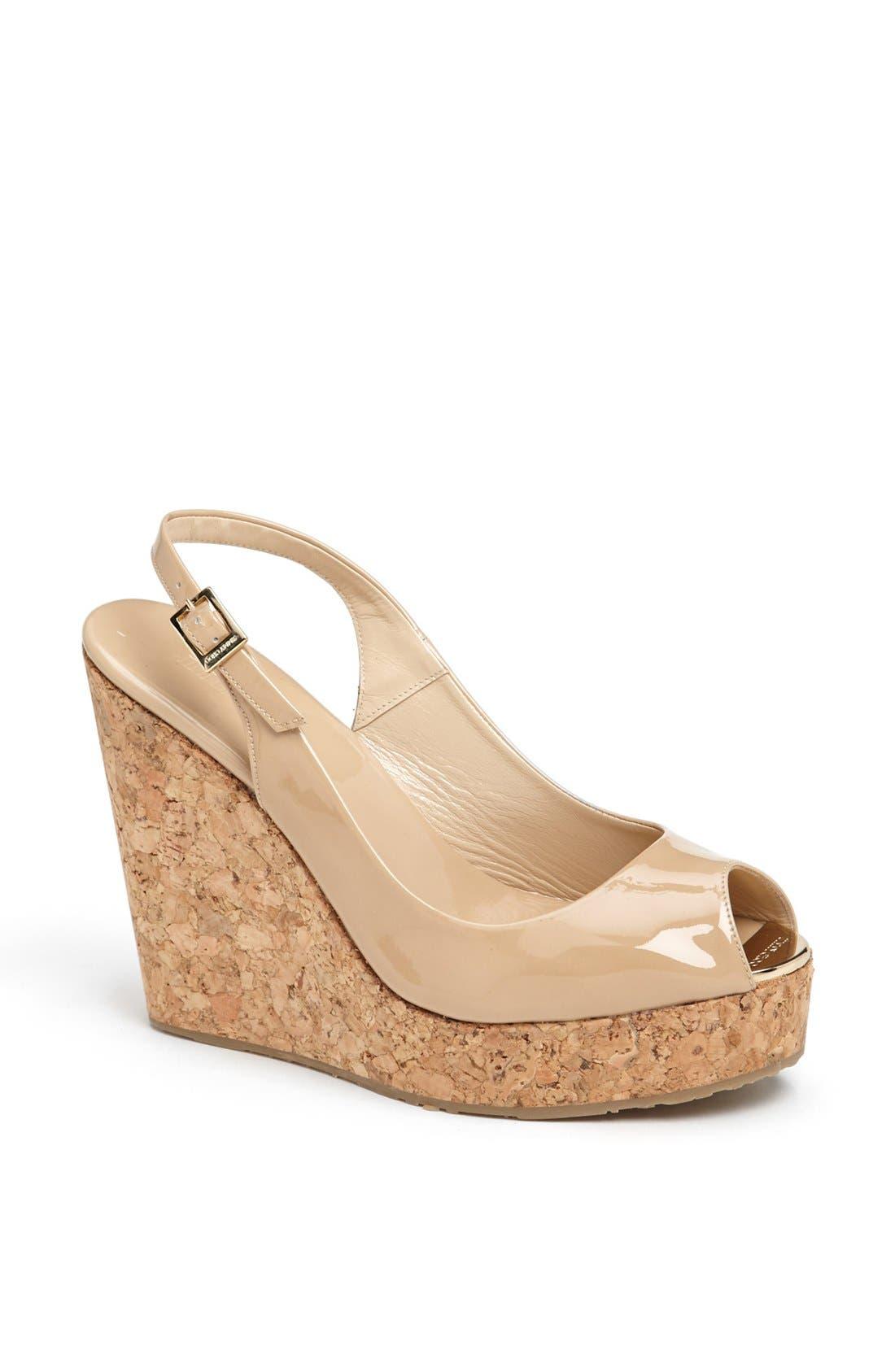'Prova' Cork Slingback Wedge Sandal,                         Main,                         color, 270