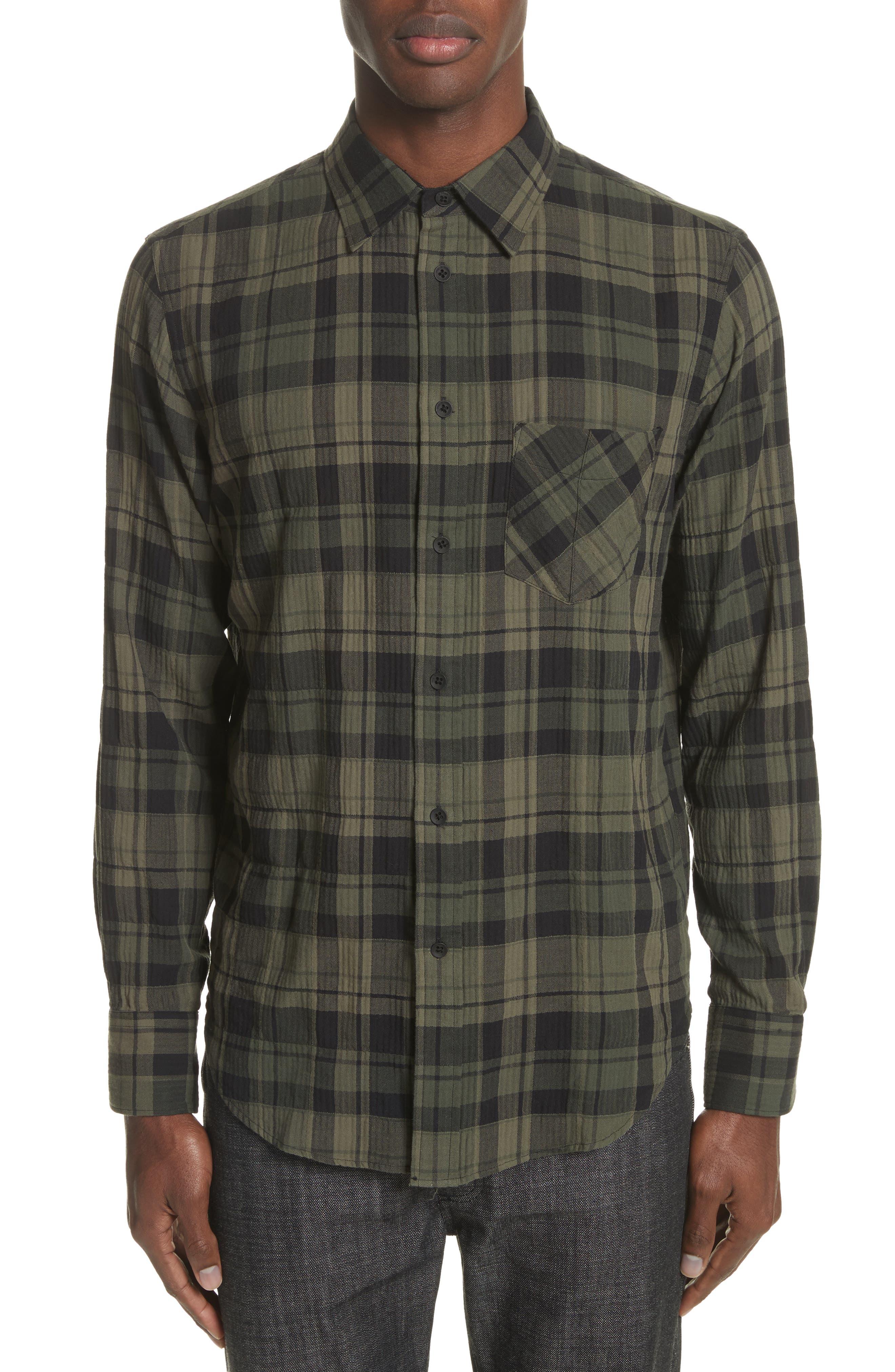 Fit 3 Base Plaid Flannel Shirt,                         Main,                         color,