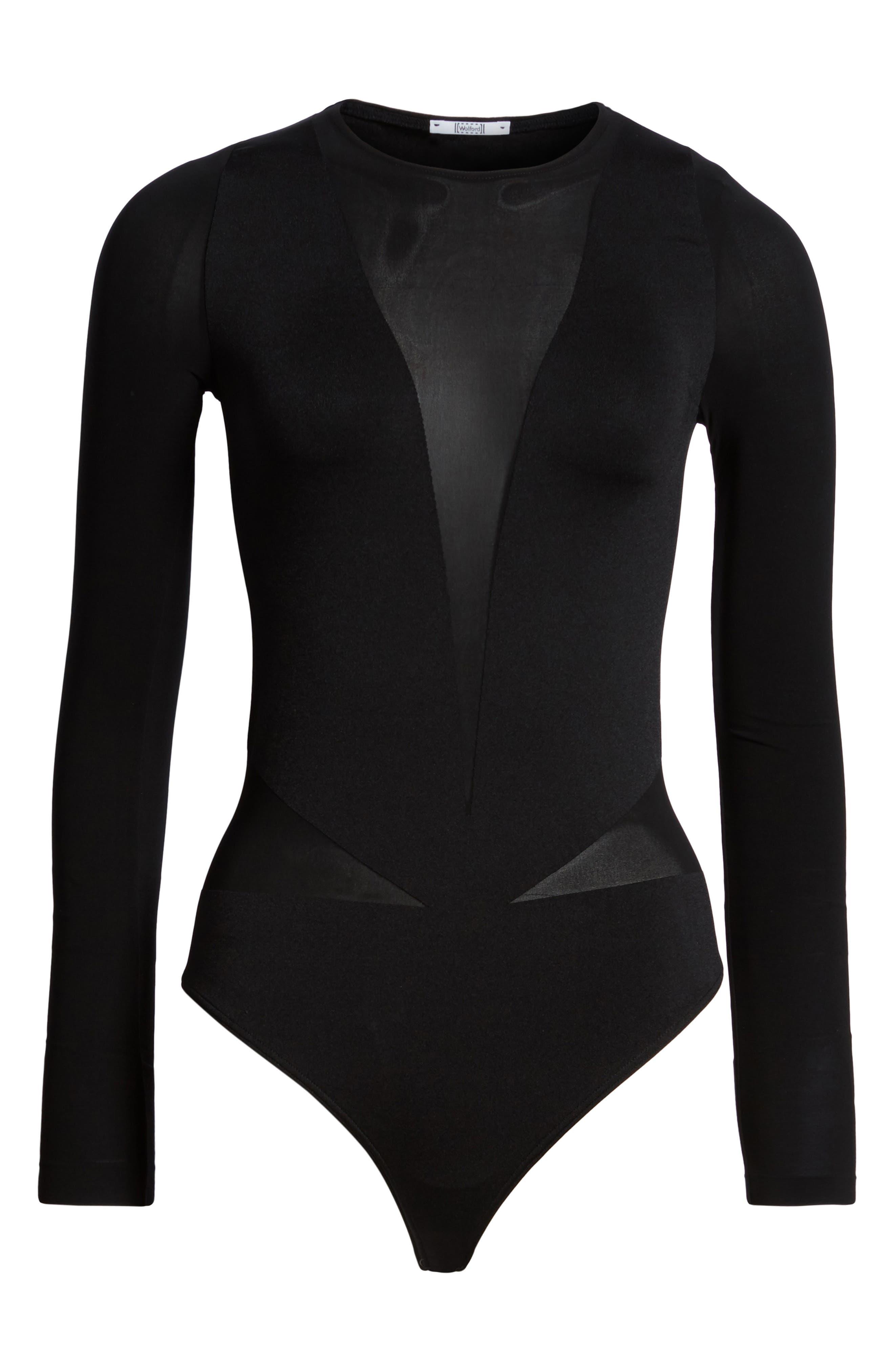 Sleek String Bodysuit,                             Alternate thumbnail 6, color,