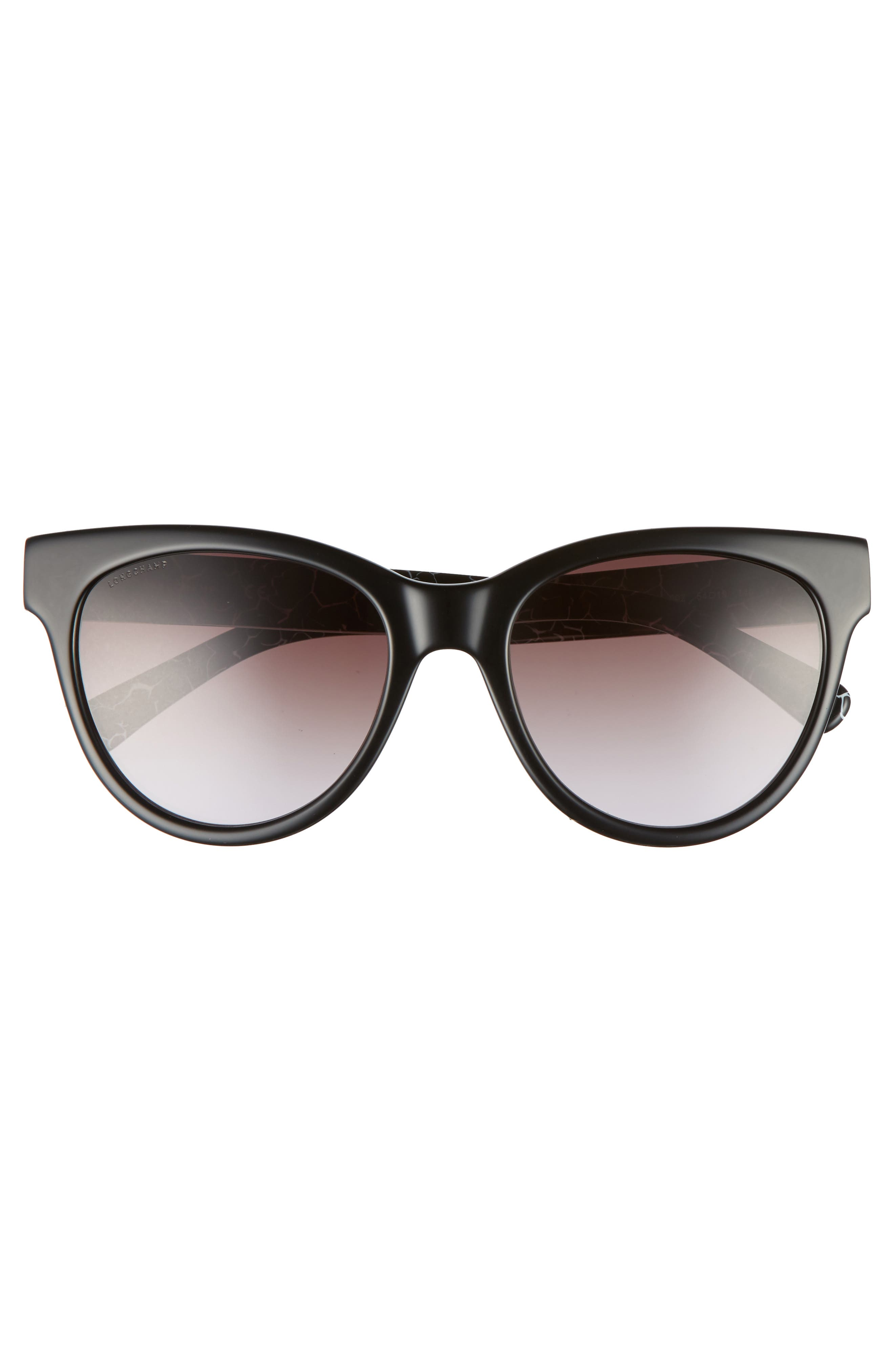 54mm Gradient Lens Cat Eye Sunglasses,                             Alternate thumbnail 3, color,                             MARBLE BLACK