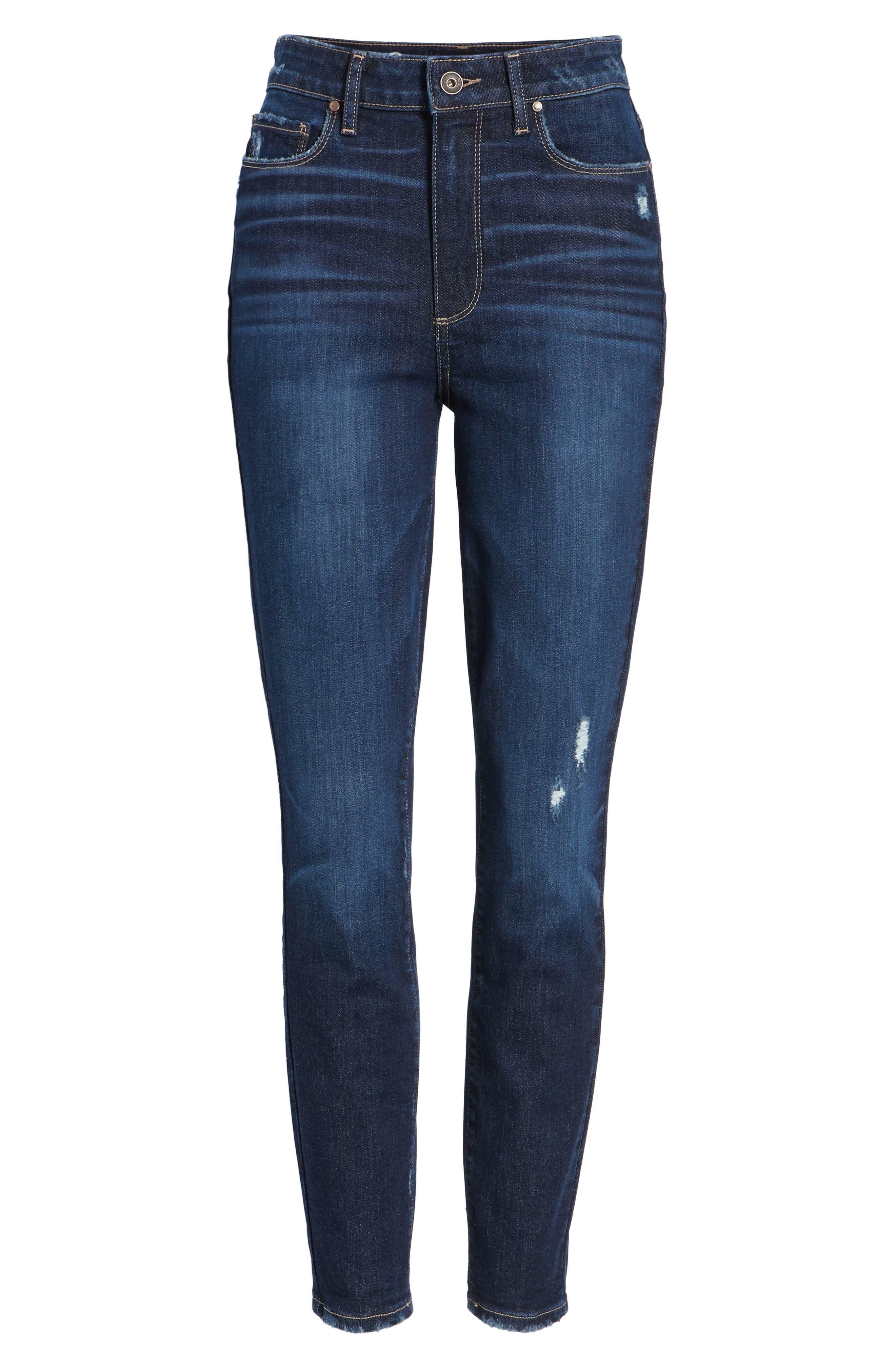 Margot High Waist Ankle Skinny Jeans,                             Alternate thumbnail 6, color,                             400