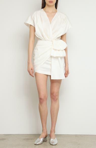 Gathered Linen Blend Dress, video thumbnail