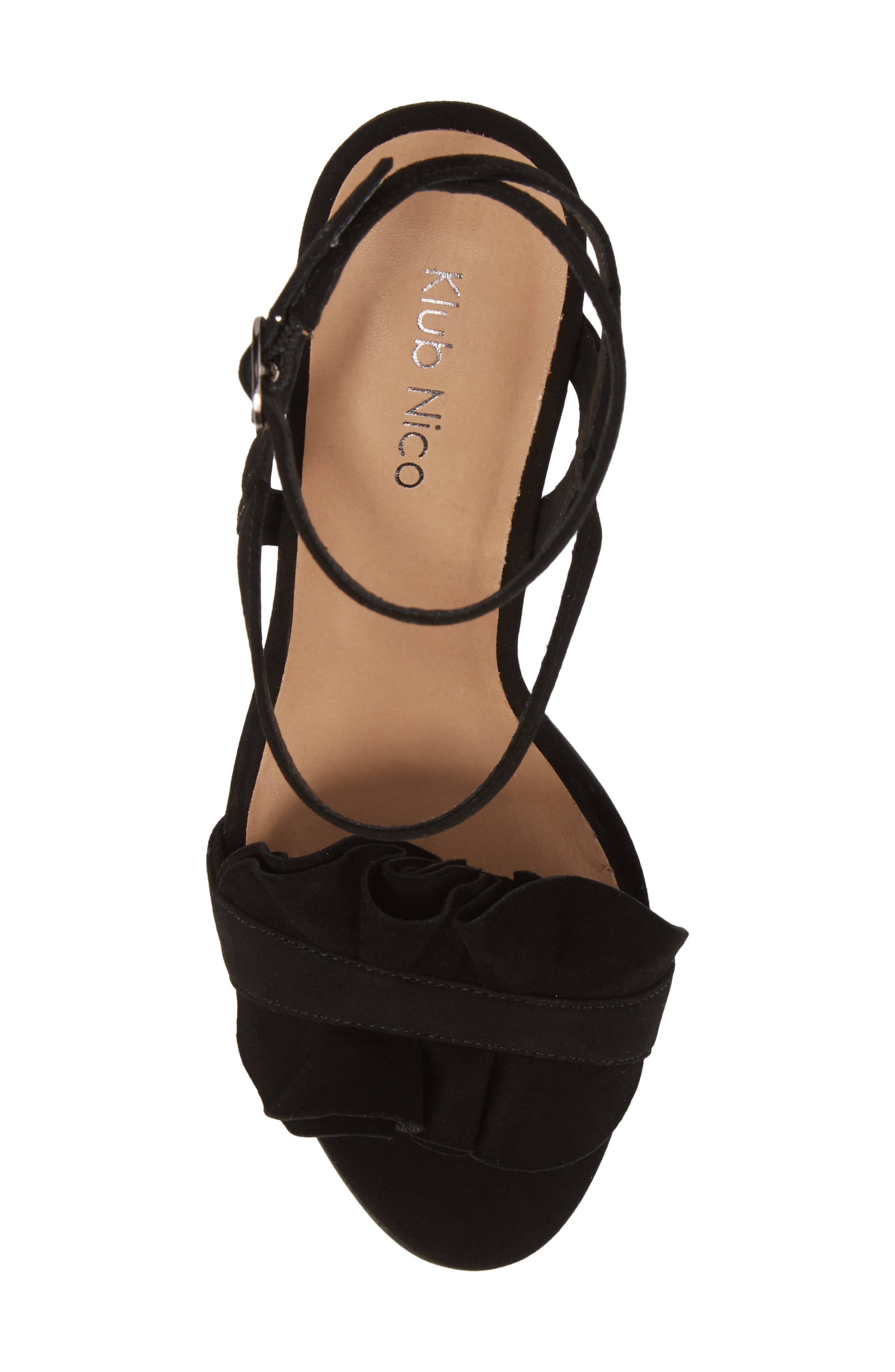 Ansley Sandal,                             Alternate thumbnail 5, color,                             BLACK SUEDE