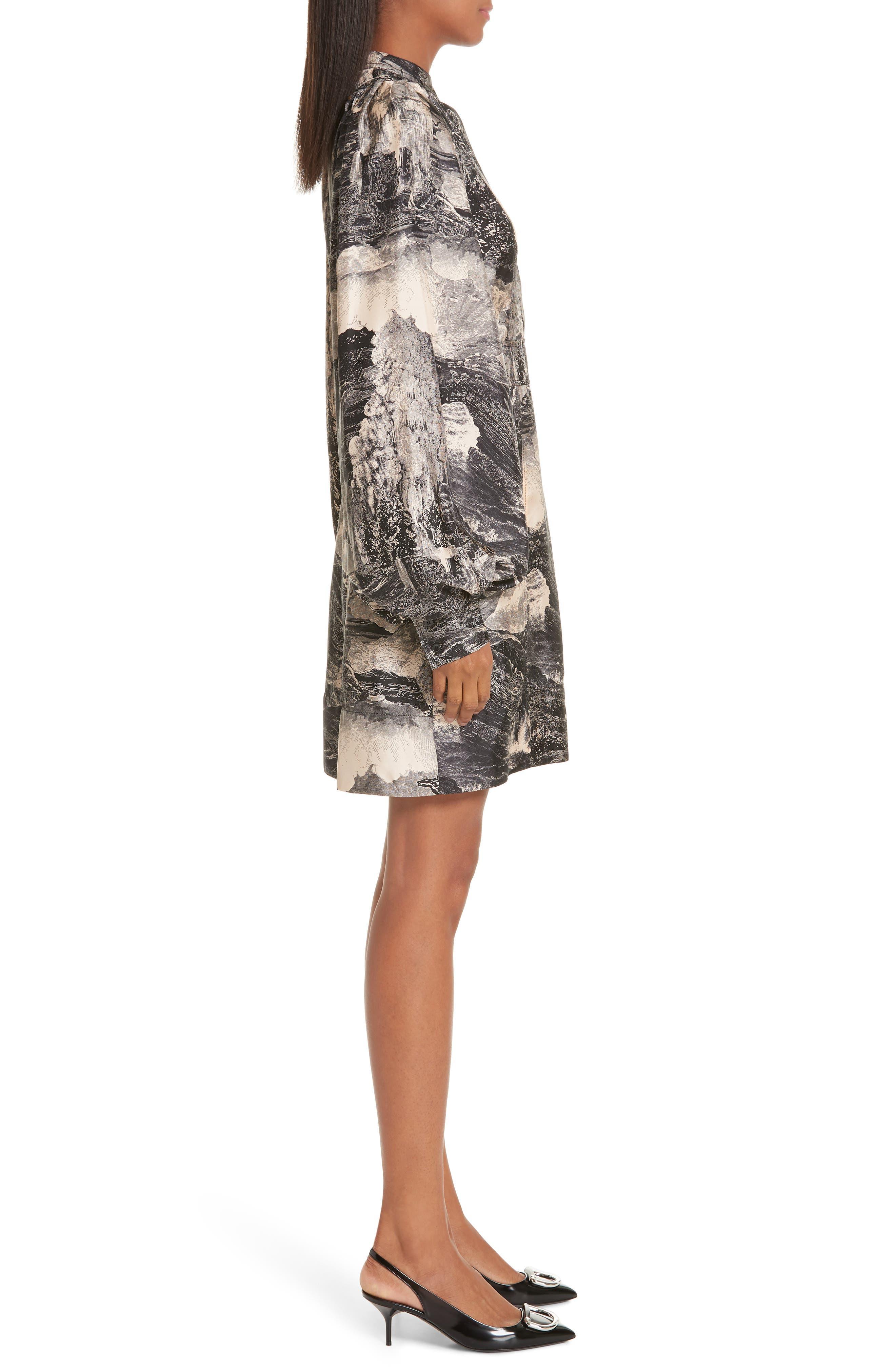Pascala Silk Dress,                             Alternate thumbnail 3, color,                             PALE APRICOT