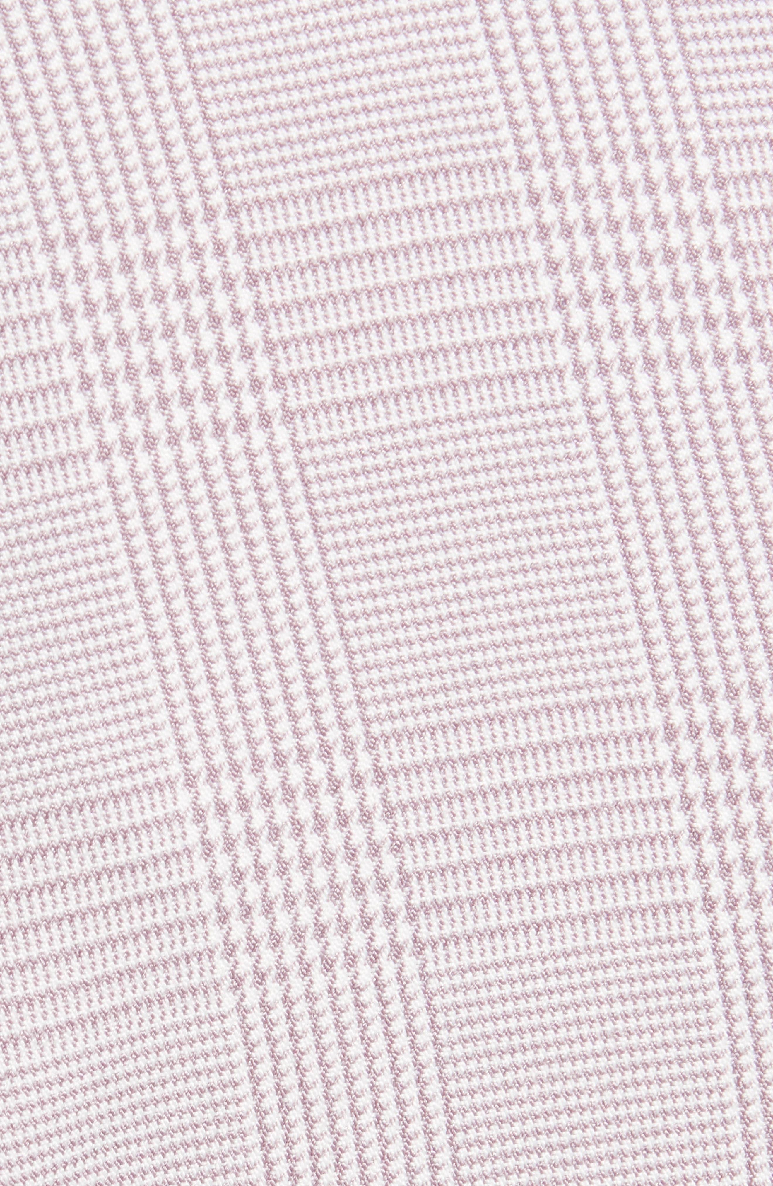 Rozy Glen Plaid Minidress,                             Alternate thumbnail 6, color,                             LAVENDER TWEED