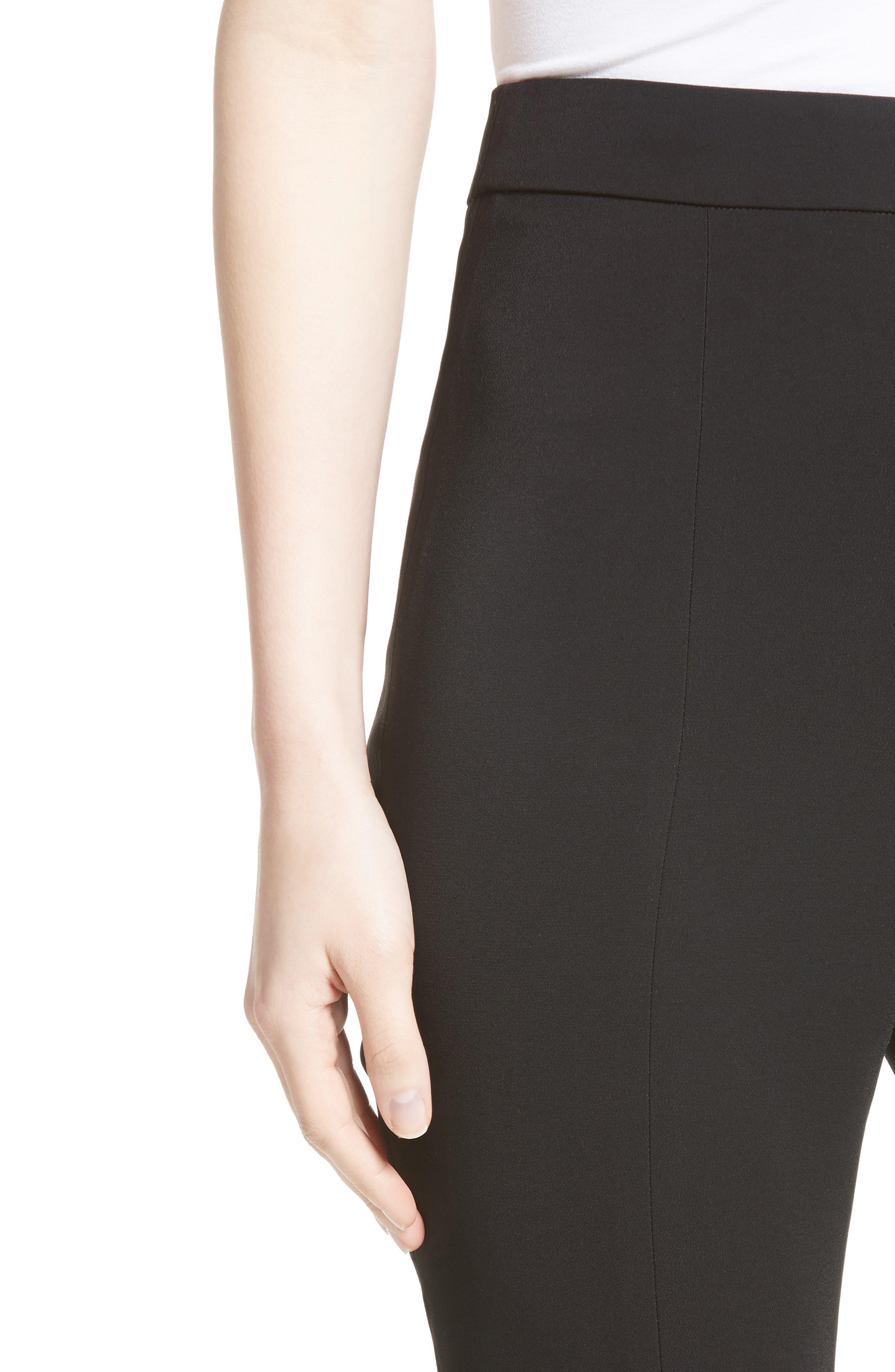 Naomi High Waist Flare Pants,                             Alternate thumbnail 4, color,                             001