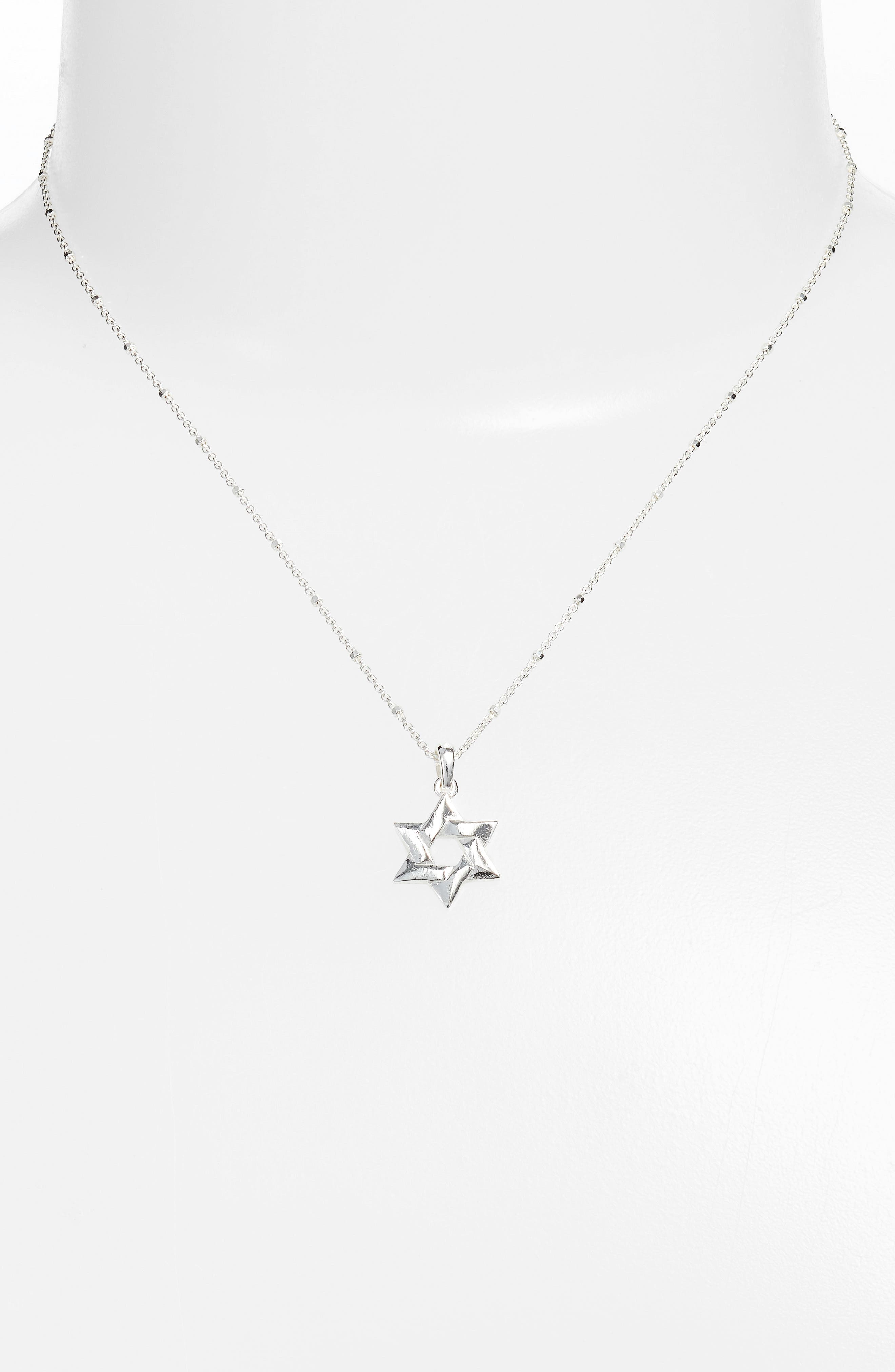 Star of David Pendant Necklace,                             Alternate thumbnail 3, color,