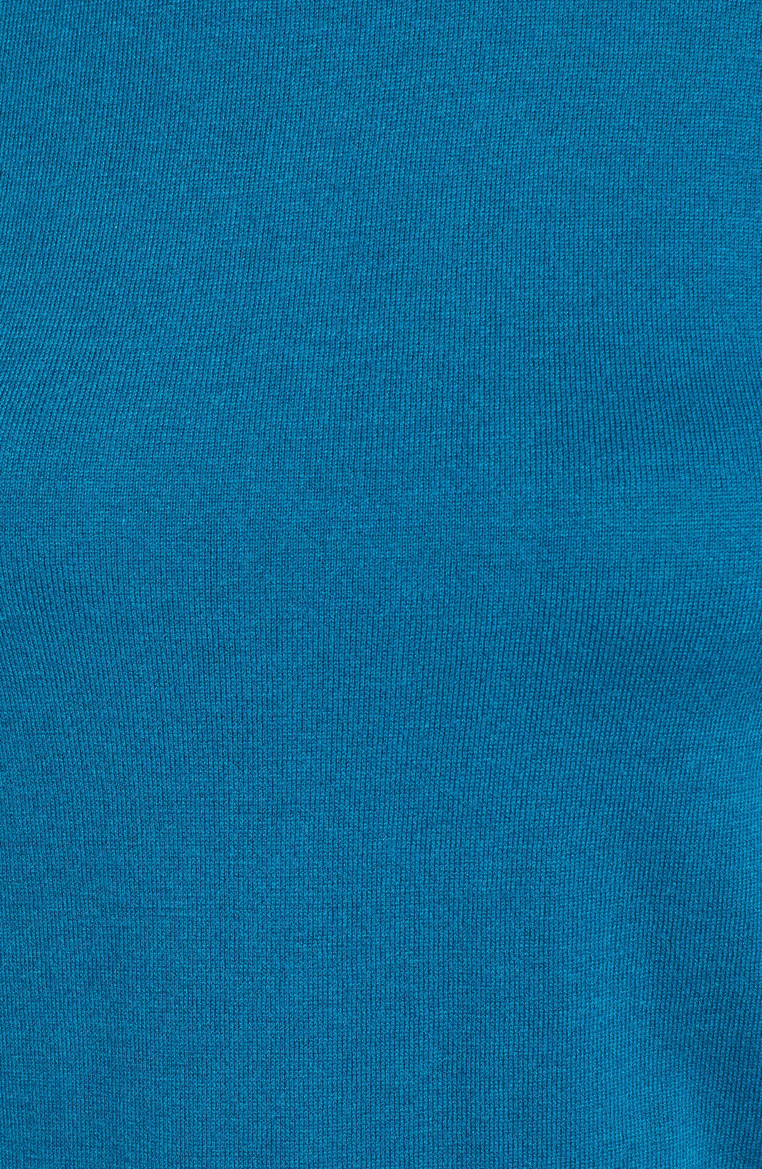 Sheer Sleeve Turtleneck Sweater,                             Alternate thumbnail 5, color,                             449