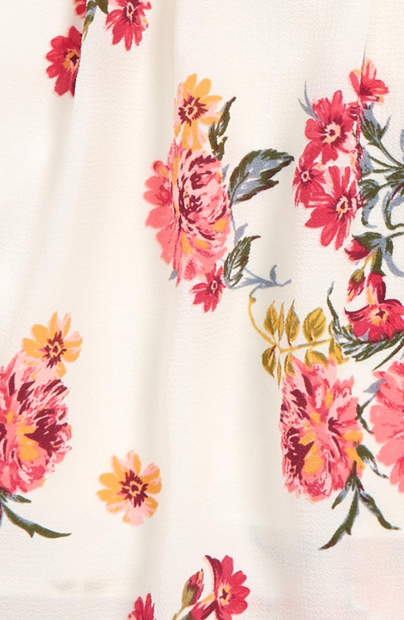 ZUNIE,                             Floral Print Tank & Shorts Set,                             Alternate thumbnail 2, color,                             IVORY