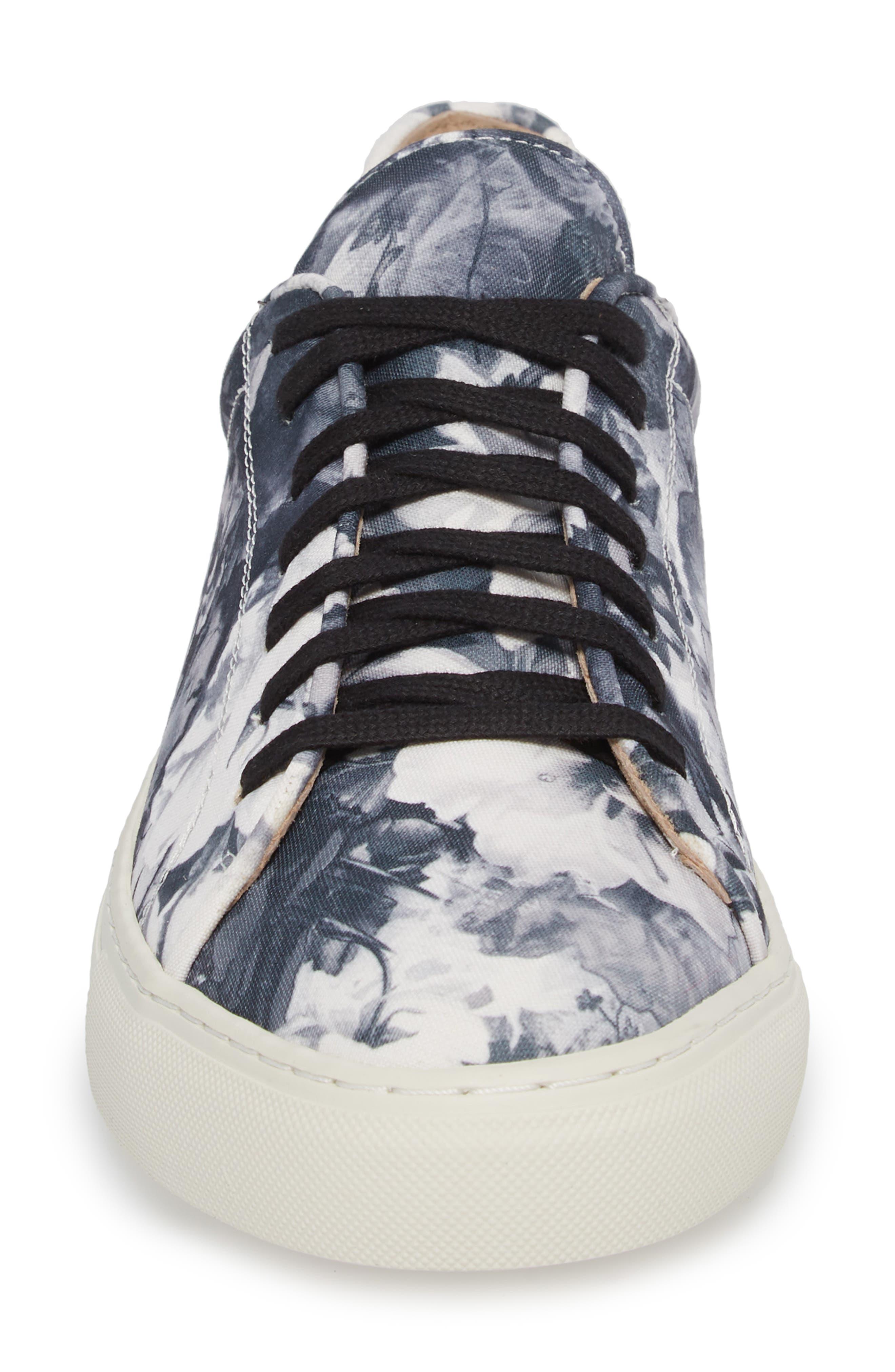 Mason Print Low Top Sneaker,                             Alternate thumbnail 4, color,                             005
