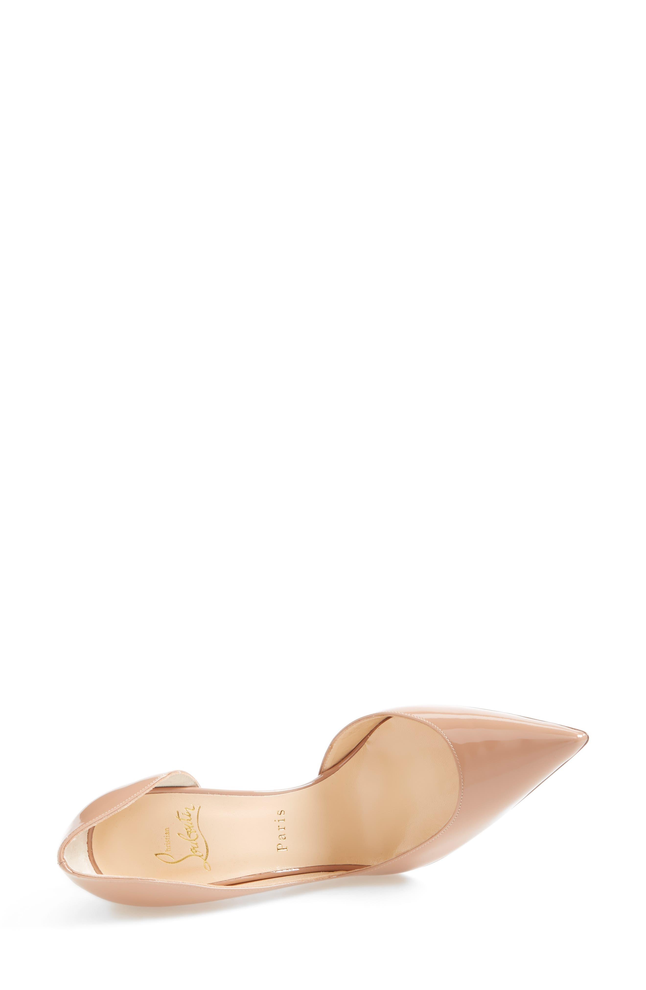 'Iriza' Pointy Toe Half d'Orsay Pump,                             Alternate thumbnail 2, color,                             NUDE