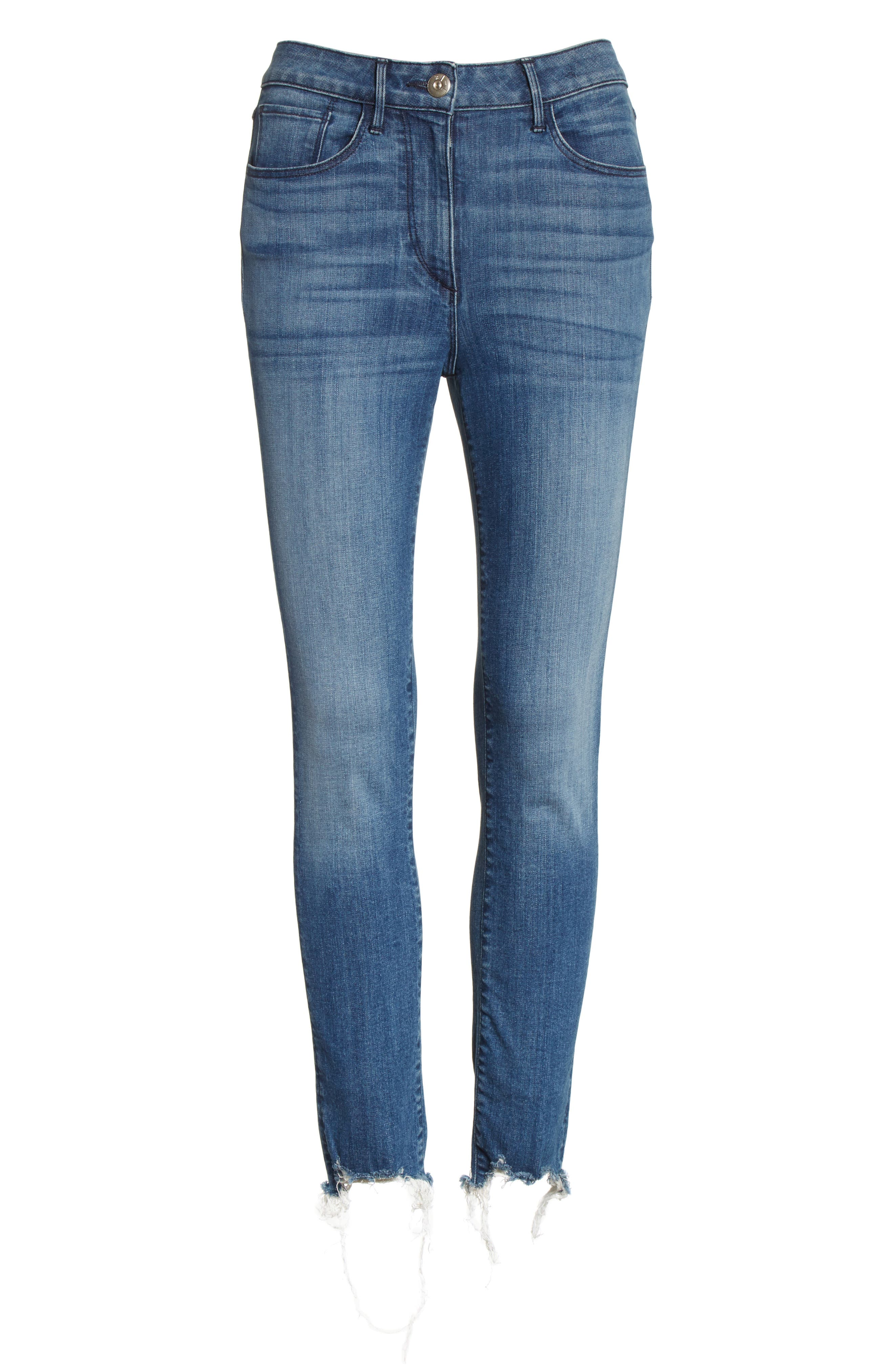 W3 Crop Skinny Jeans,                             Alternate thumbnail 6, color,                             428