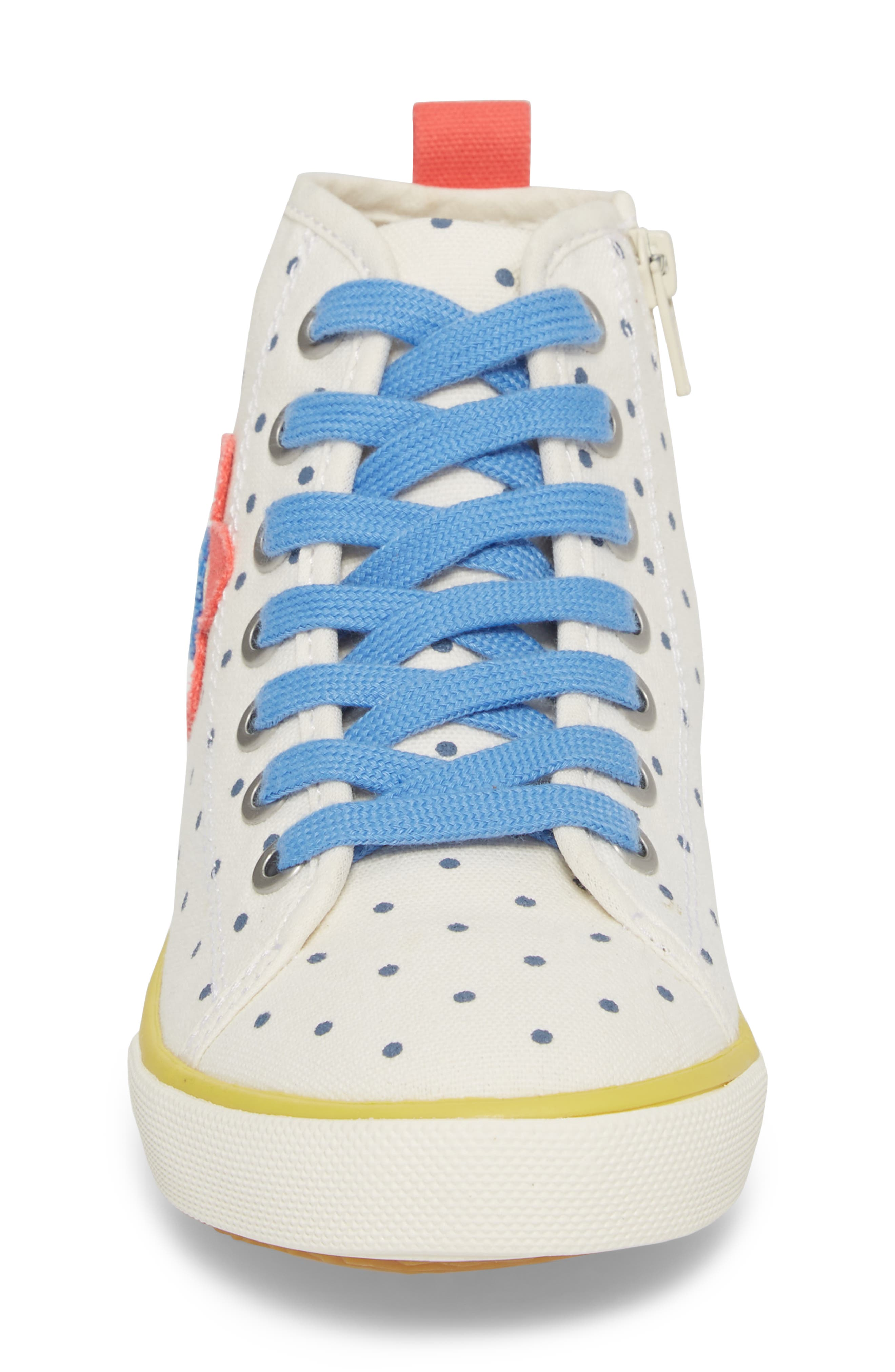Appliqué High Top Sneaker,                             Alternate thumbnail 4, color,                             254