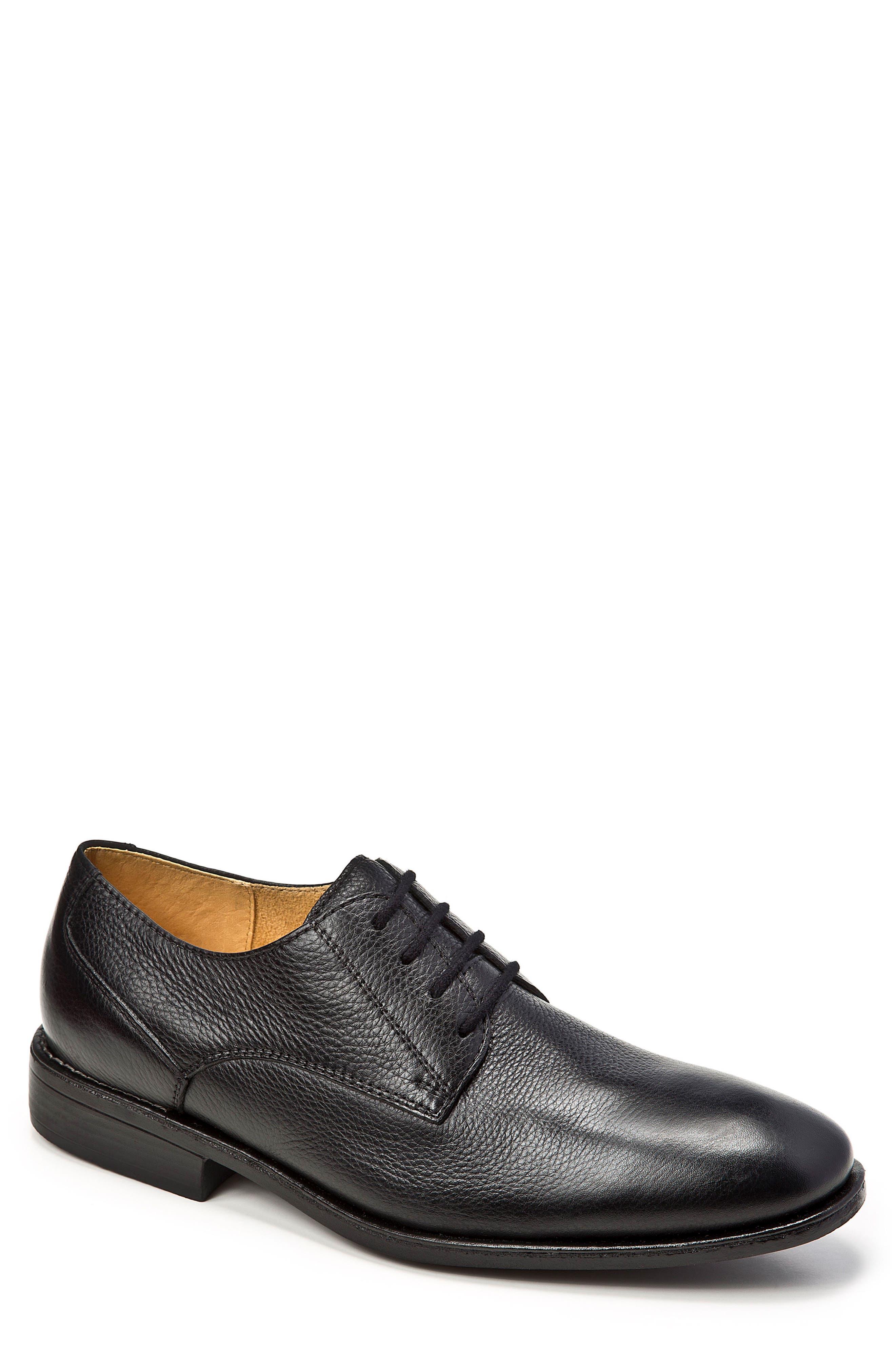 Wallace Plain Toe Derby,                         Main,                         color, BLACK