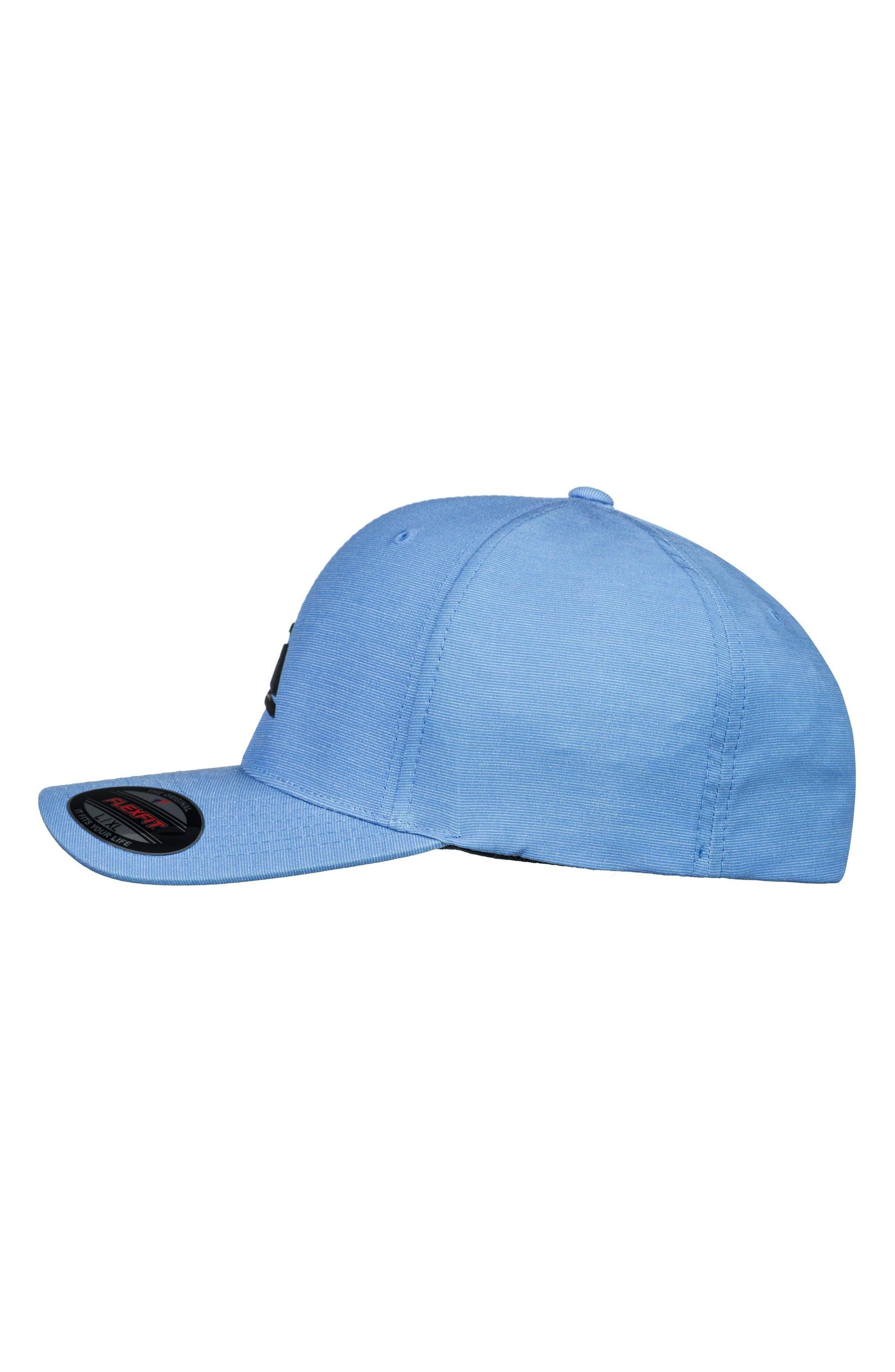 Texturizer Flexfit Ball Cap,                             Alternate thumbnail 4, color,                             SILVER LAKE BLUE