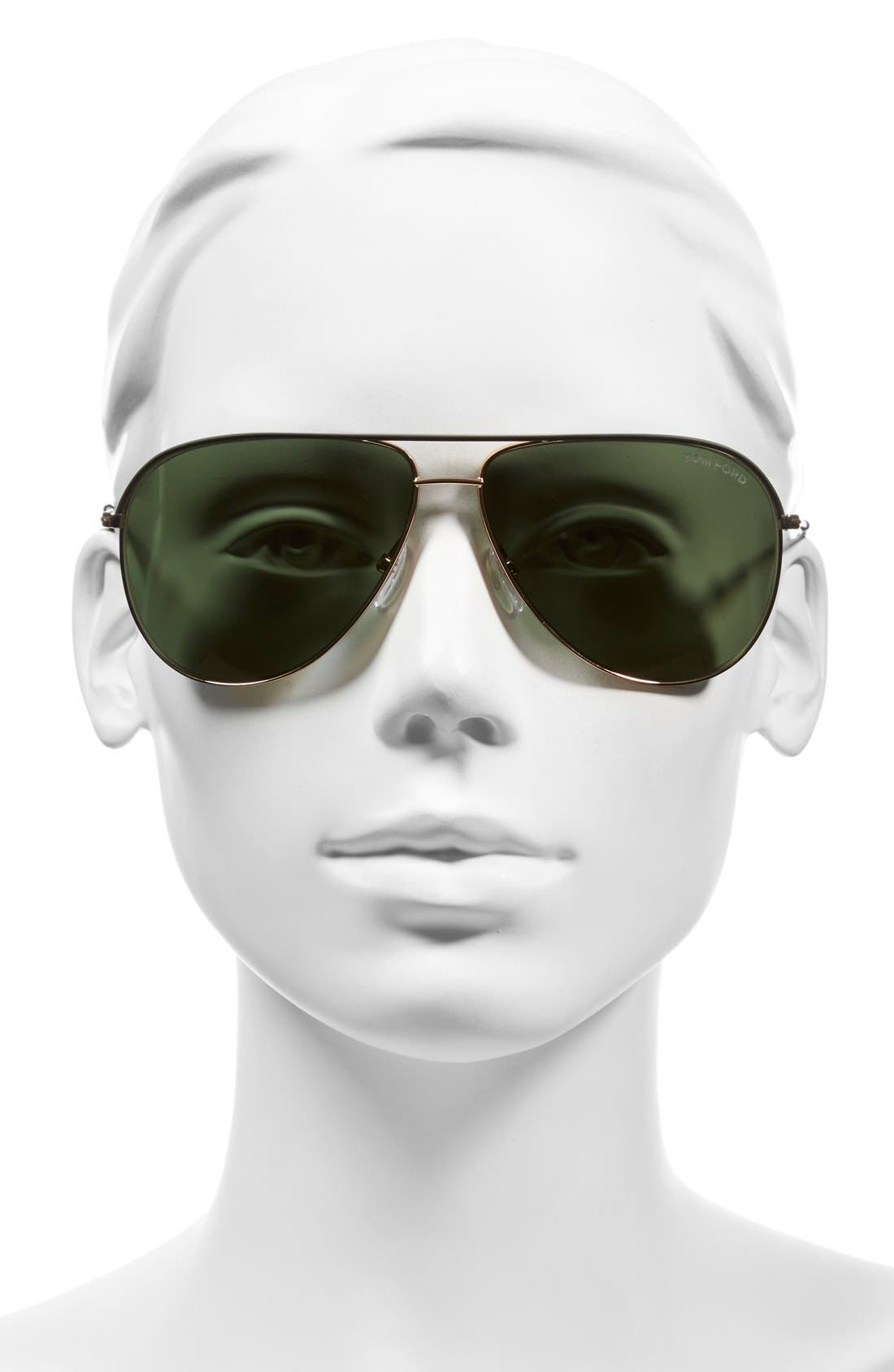 'Erin' 61mm Aviator Sunglasses,                             Alternate thumbnail 2, color,                             001