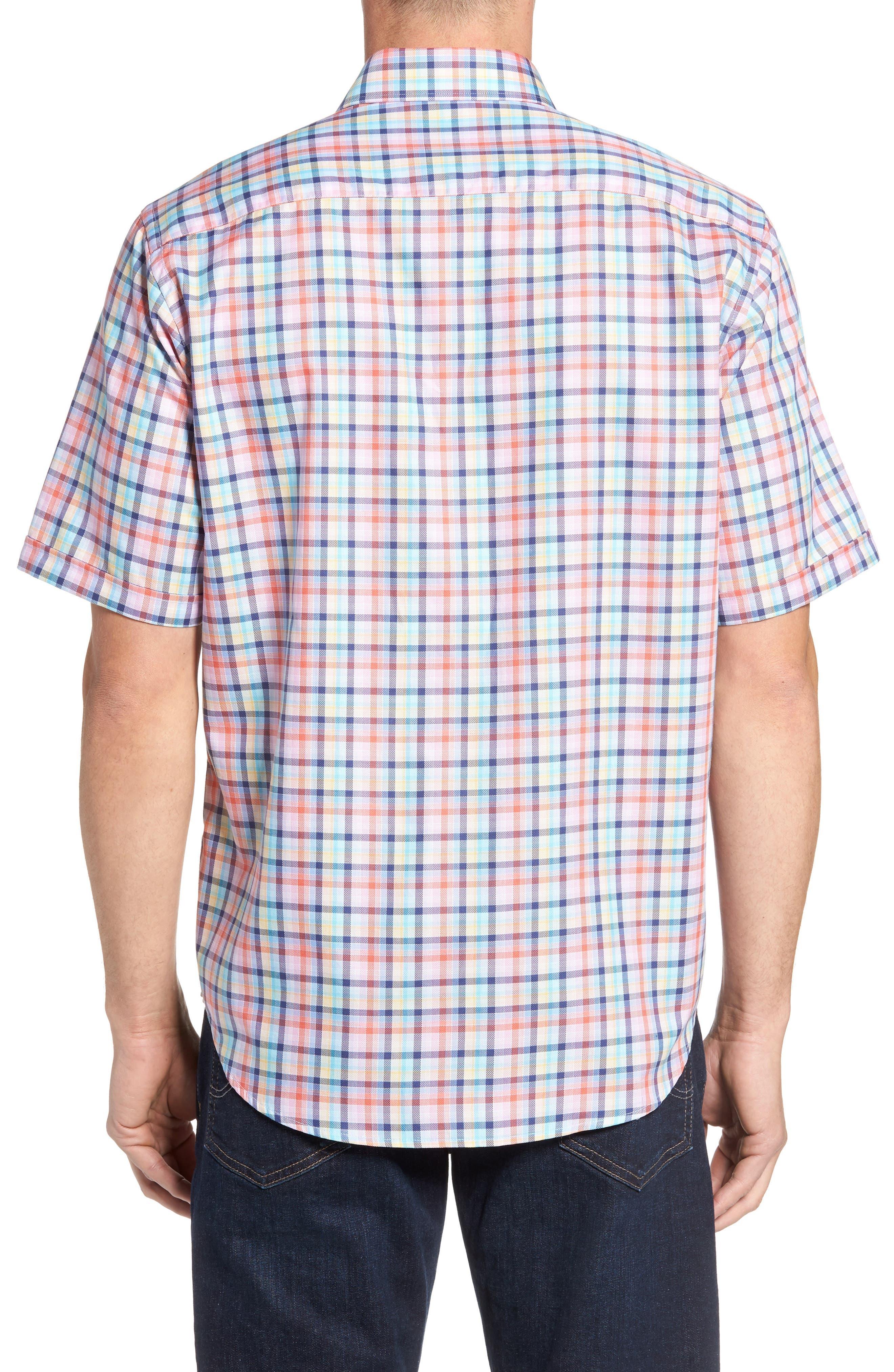 Classic Fit Check Short Sleeve Sport Shirt,                             Alternate thumbnail 2, color,                             953
