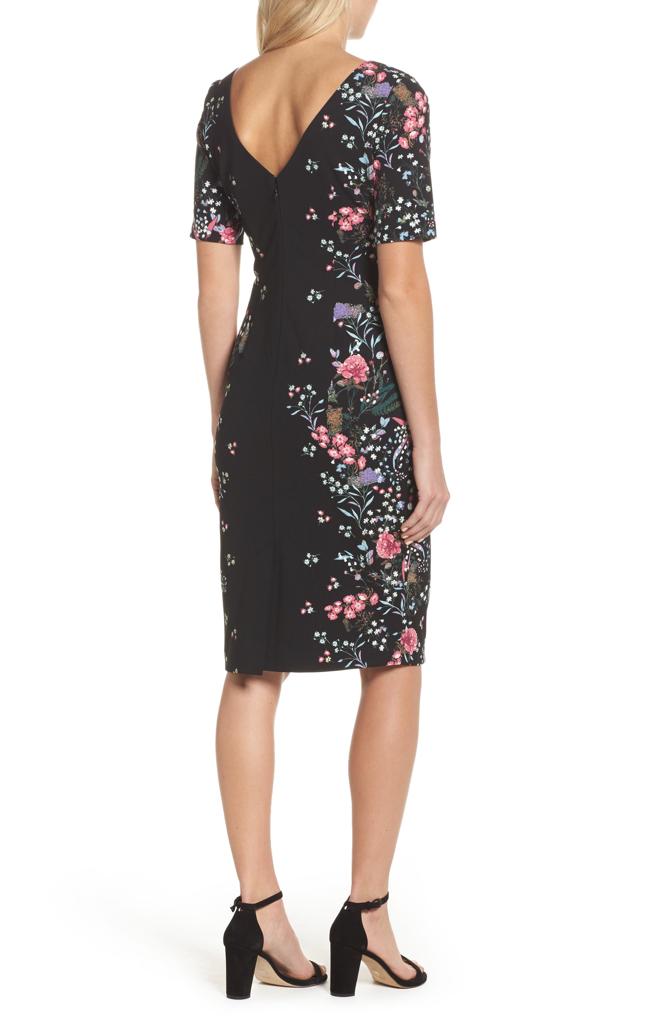 Print Sheath Dress,                             Alternate thumbnail 2, color,                             003