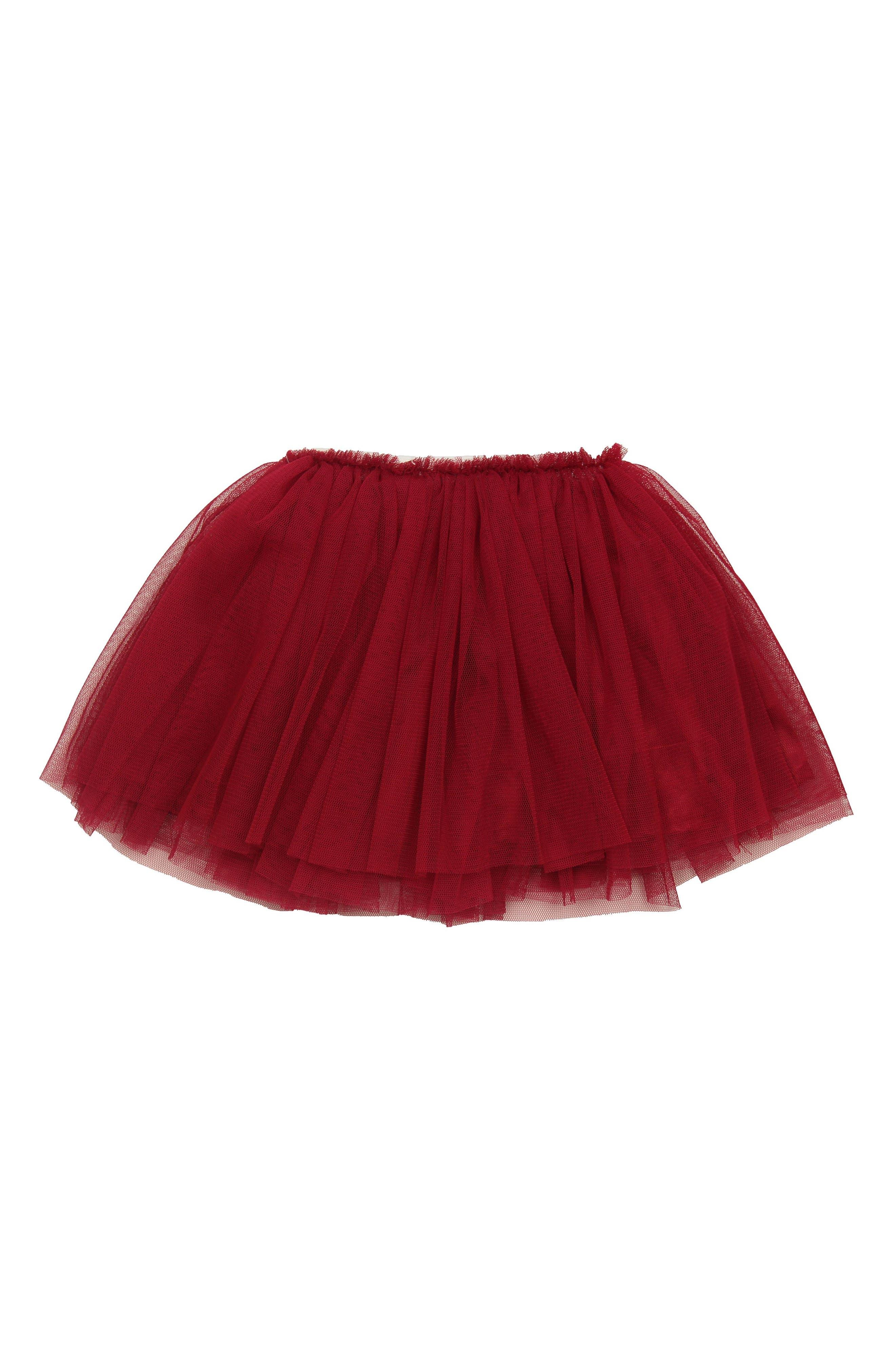 Tutu Skirt,                             Main thumbnail 1, color,                             BURGUNDY