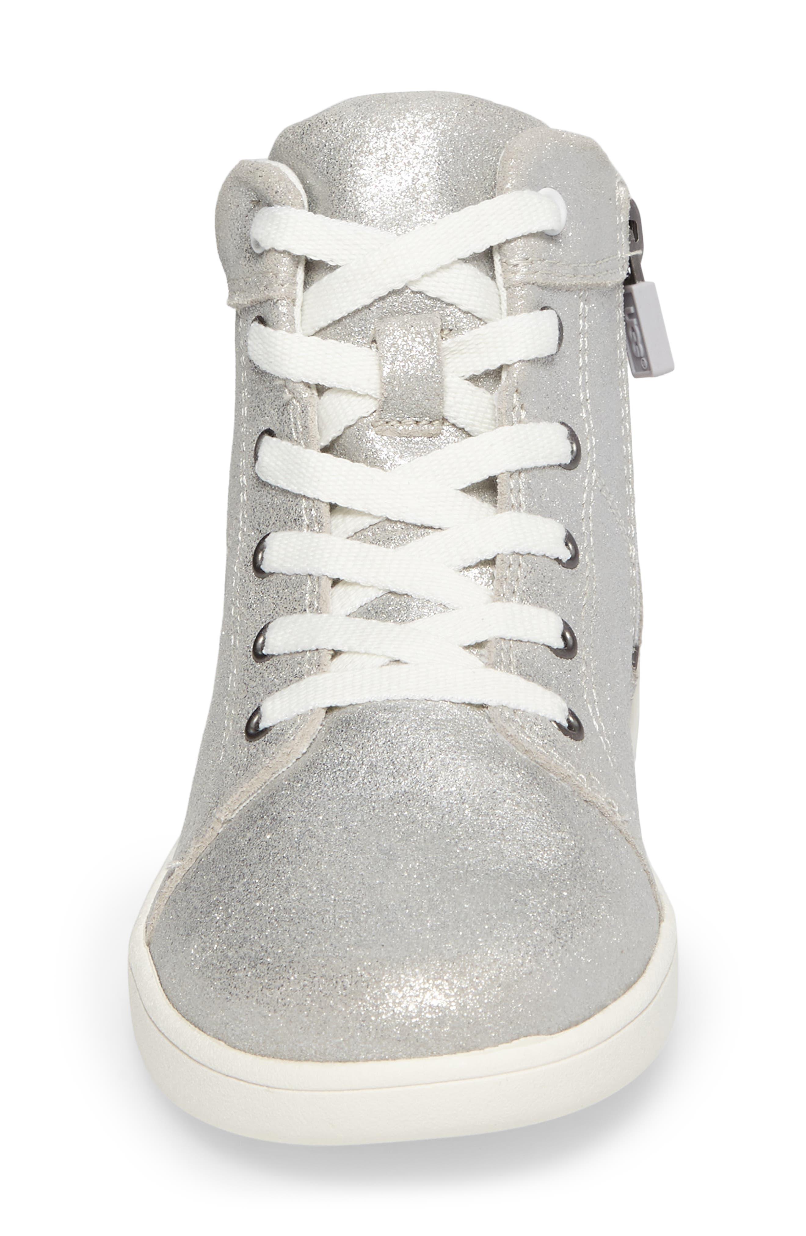Schyler Metallic High Top Sneaker,                             Alternate thumbnail 4, color,                             040