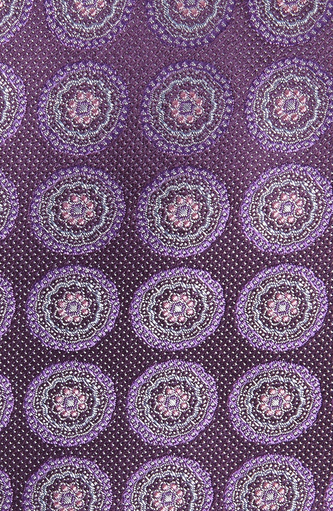 Pinpoint Medallion Silk Tie,                             Alternate thumbnail 9, color,