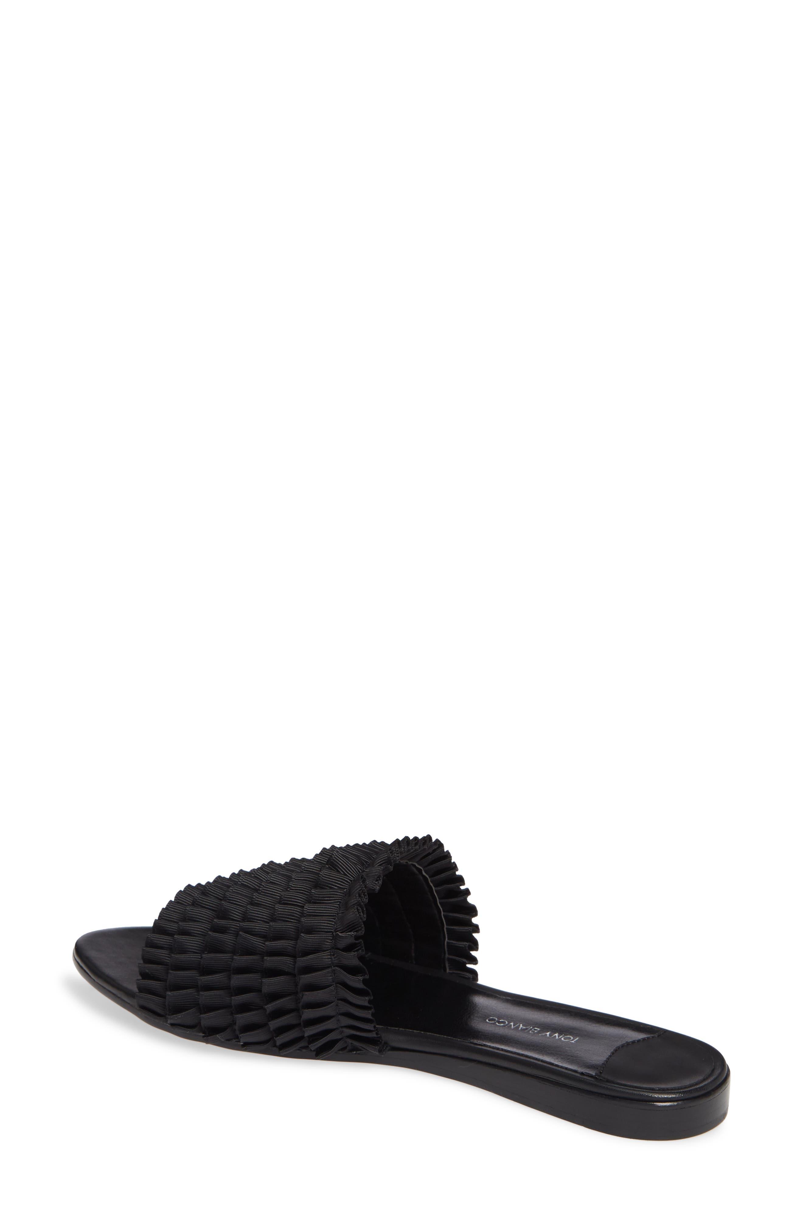 Jerzy Slide Sandal,                             Alternate thumbnail 2, color,                             BLACK FABRIC