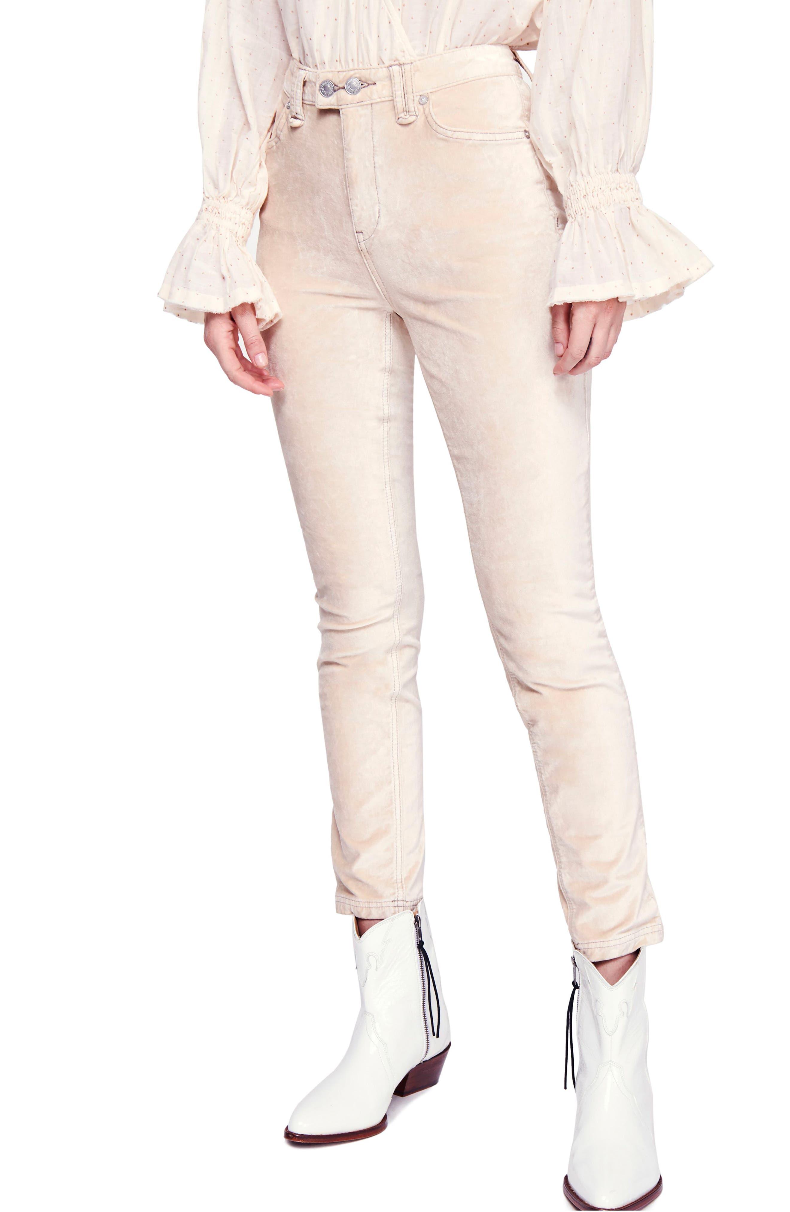 Sweet Jane Velvet Skinny Jeans, Main, color, 903