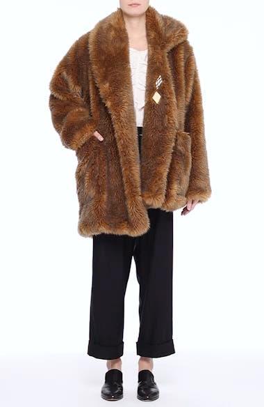 Asymmetric Faux Fur Coat, video thumbnail