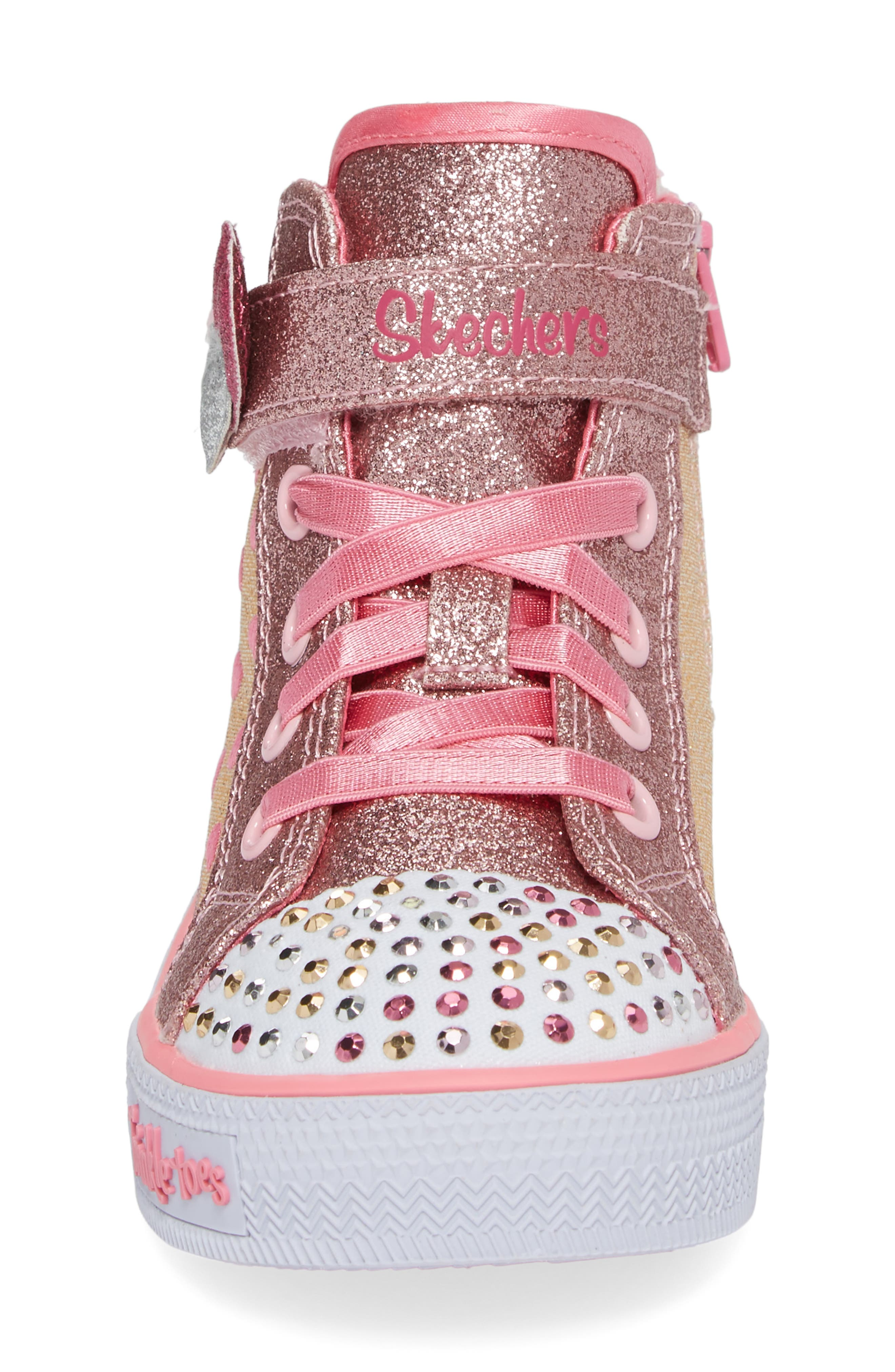 Twinkle Toes - Shuffles High Top Sneaker,                             Alternate thumbnail 4, color,                             225