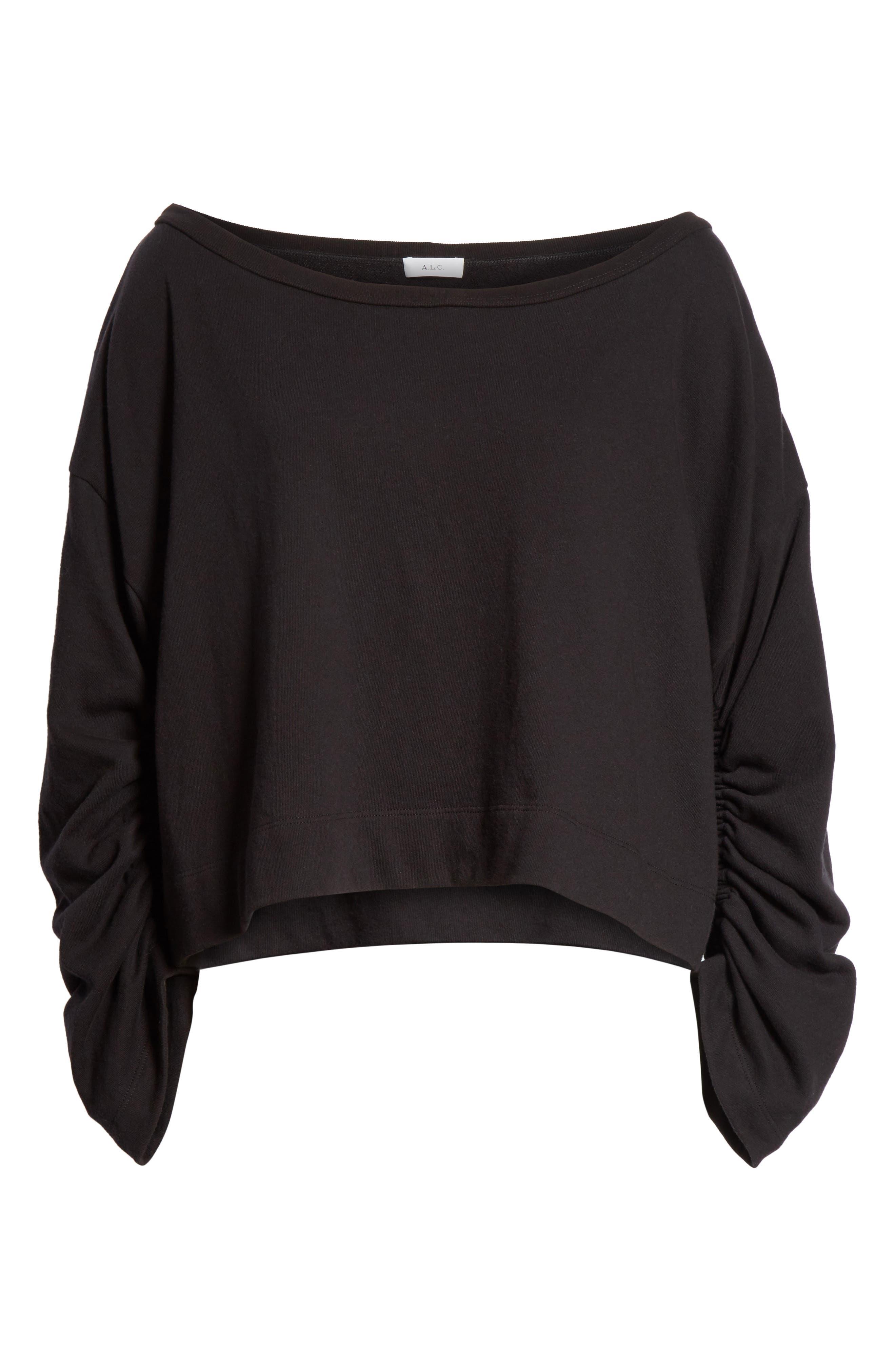 Ember Ruched Sleeve Sweatshirt,                             Alternate thumbnail 11, color,