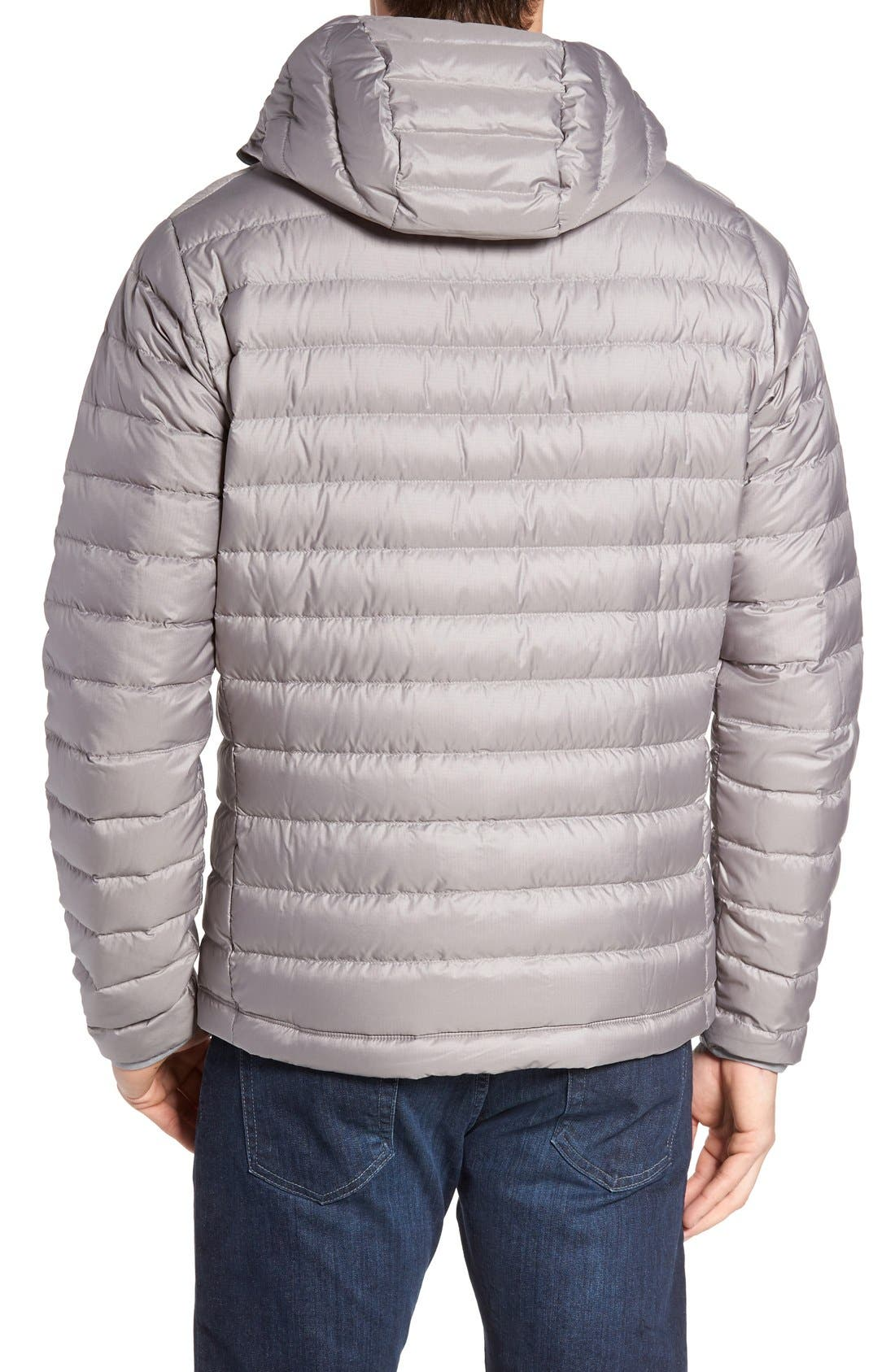 Packable Windproof & Water Resistant Goose Down Sweater Hooded Jacket,                             Alternate thumbnail 40, color,