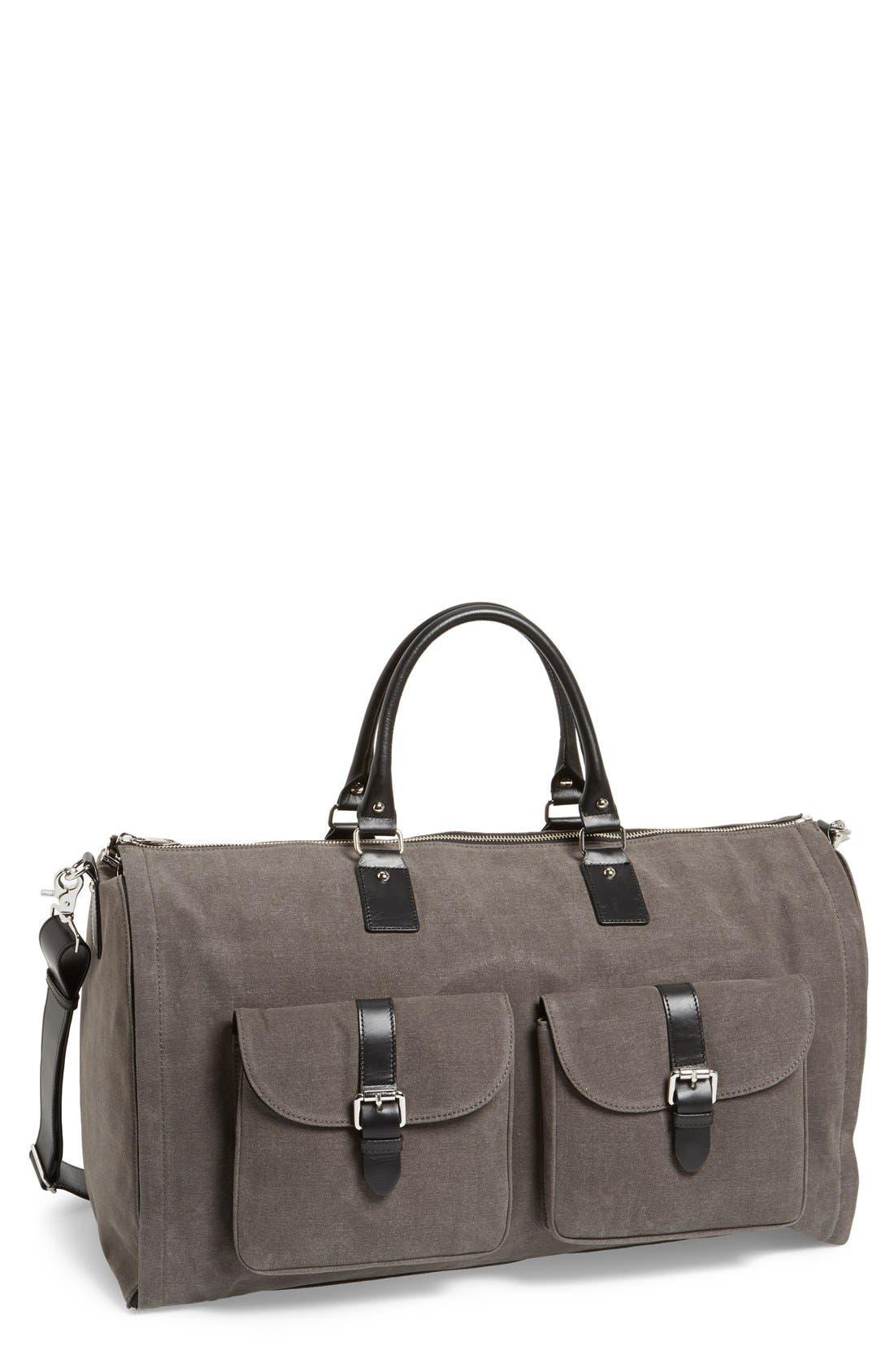 Canvas Garment/Duffel Bag,                             Main thumbnail 1, color,                             020