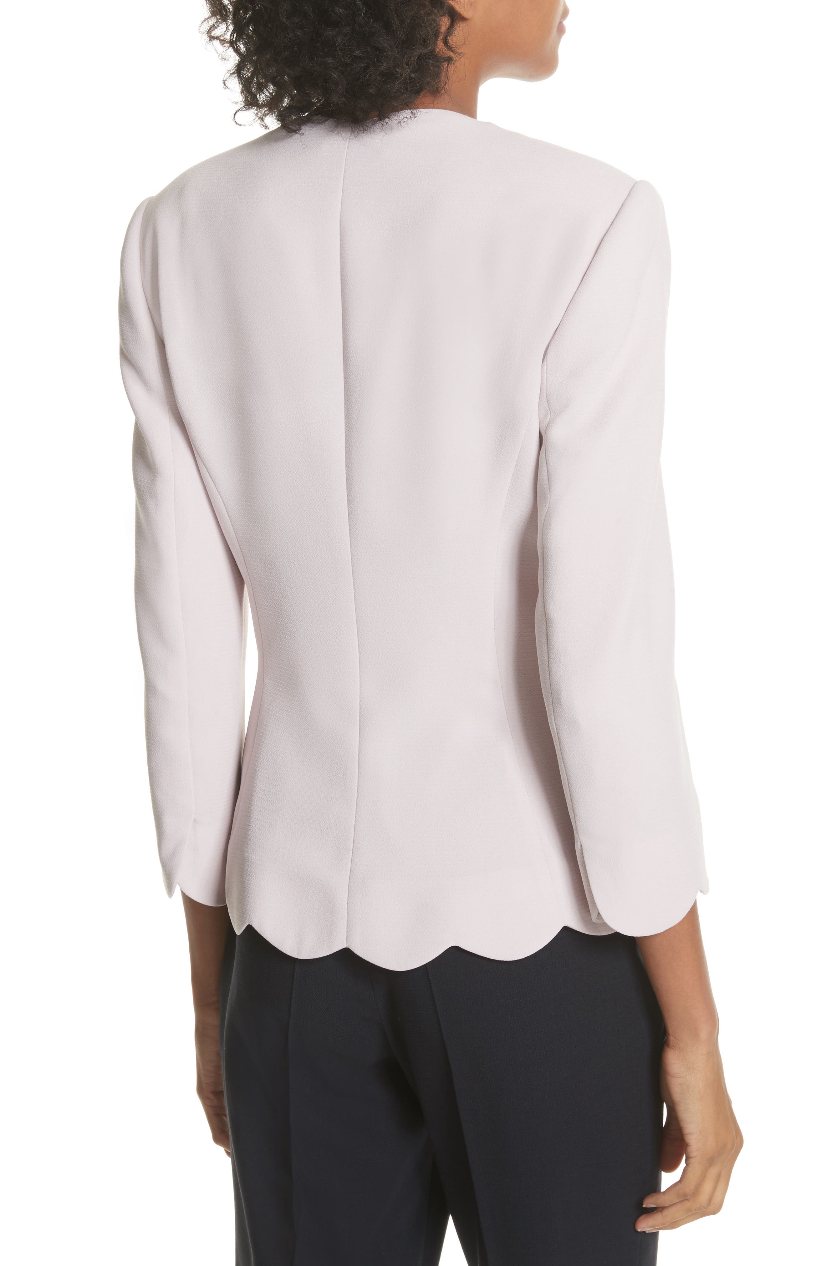 Scalloped Blazer,                             Alternate thumbnail 4, color,