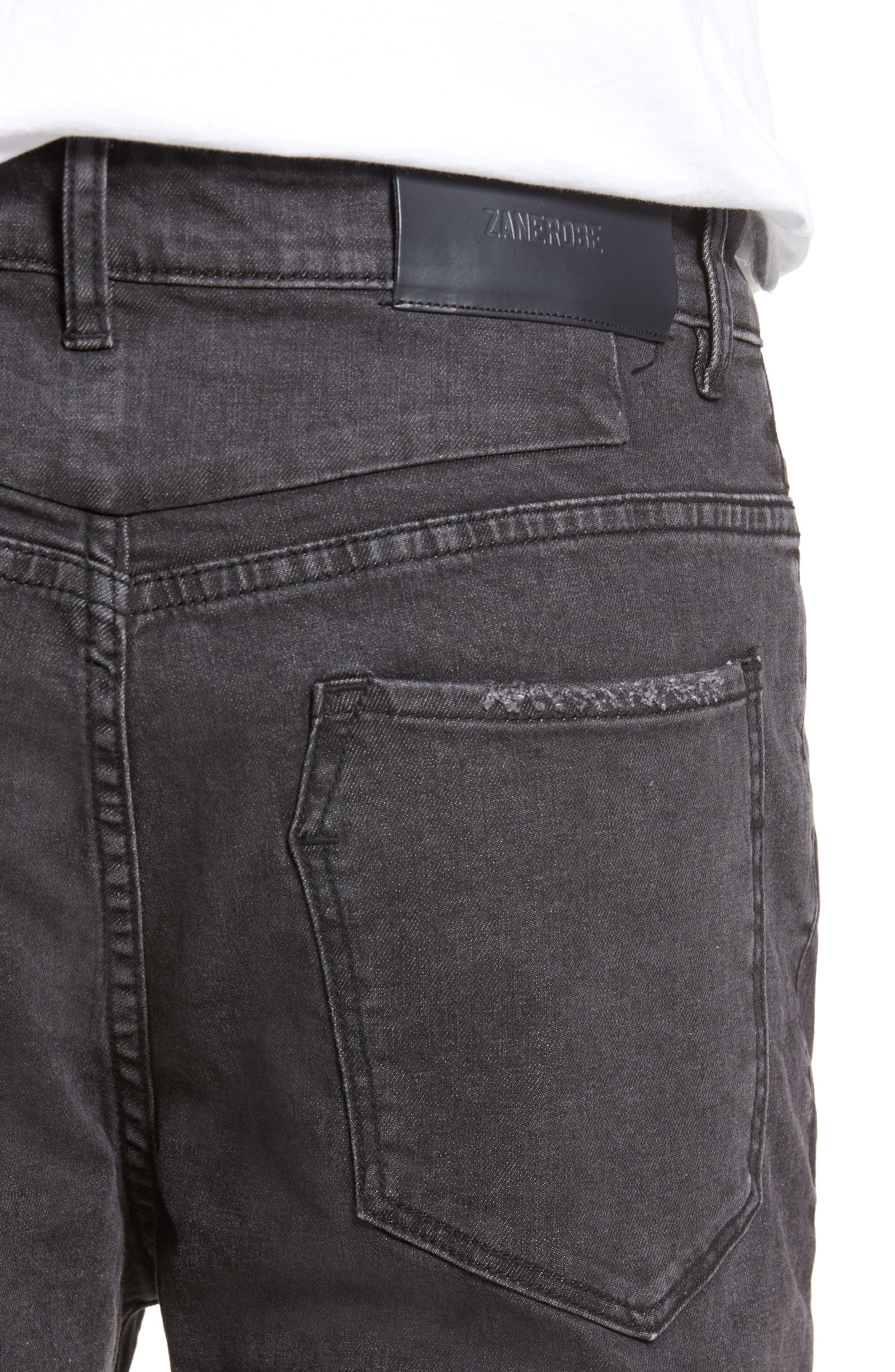 Joe Blow Destroyed Denim Jeans,                             Alternate thumbnail 4, color,                             BLACK