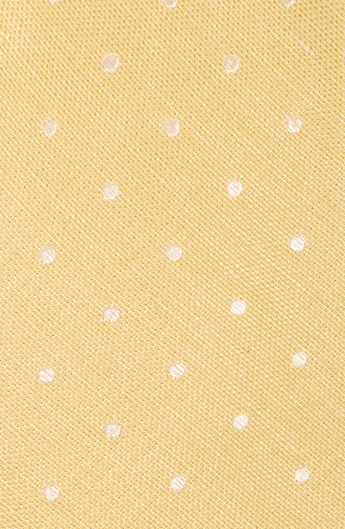 Dot Silk & Linen Tie,                             Alternate thumbnail 9, color,