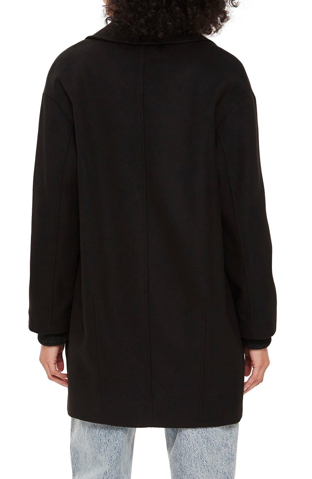 Marla Slouch Coat,                             Alternate thumbnail 2, color,                             BLACK