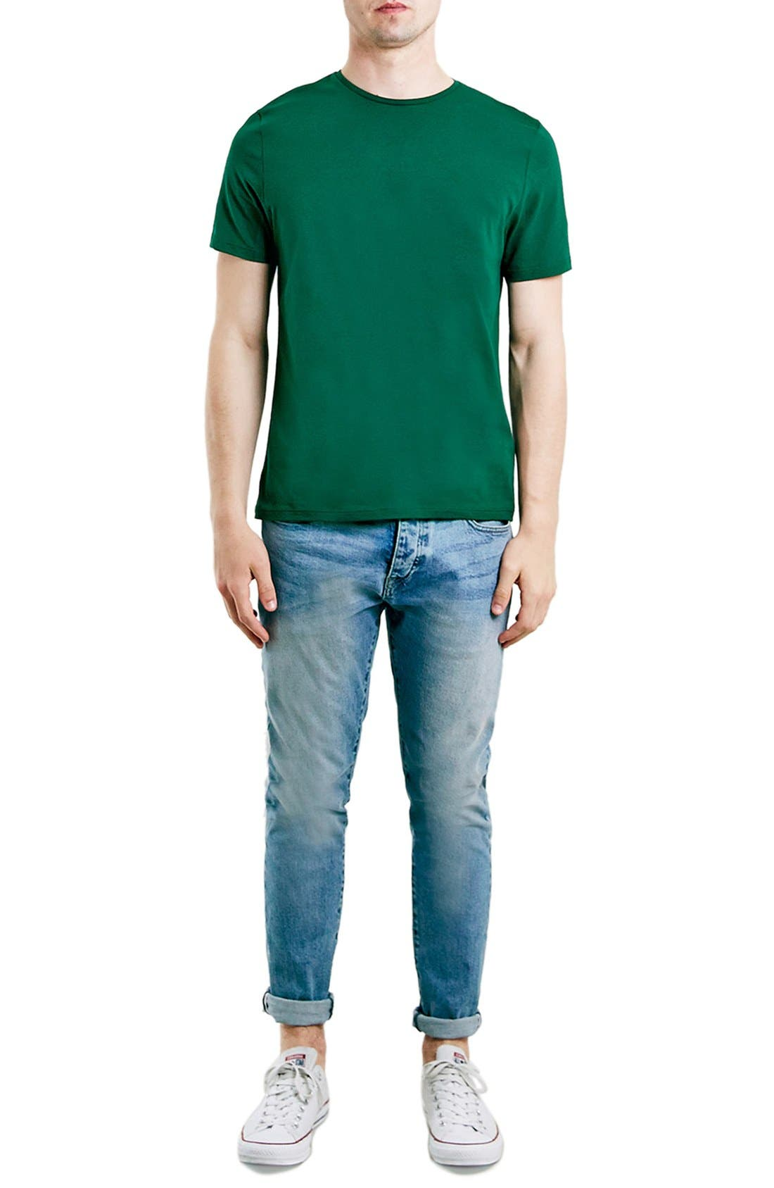 Slim Fit Crewneck T-Shirt,                             Alternate thumbnail 335, color,