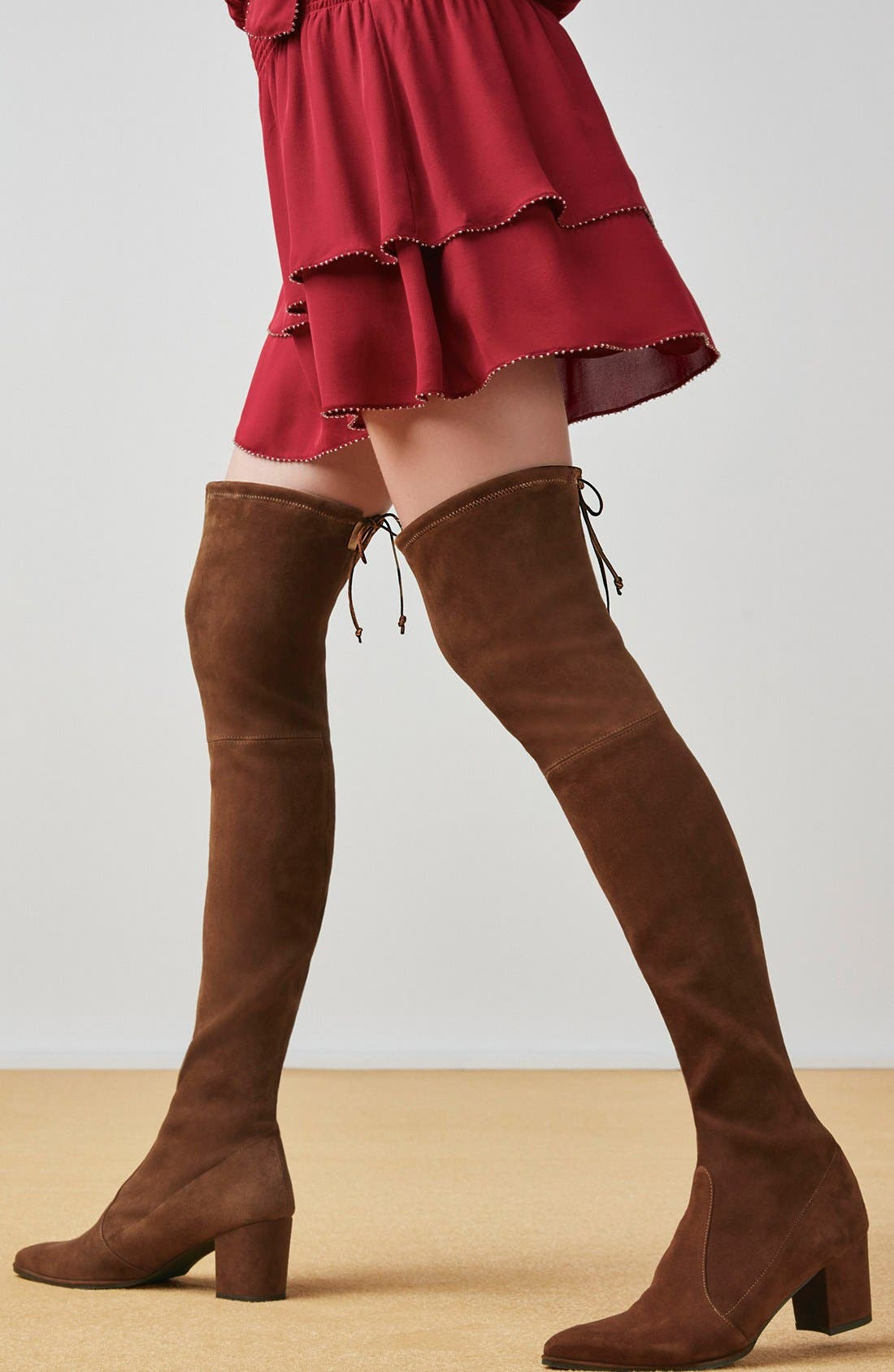Thighland Over the Knee Boot,                             Alternate thumbnail 6, color,                             001