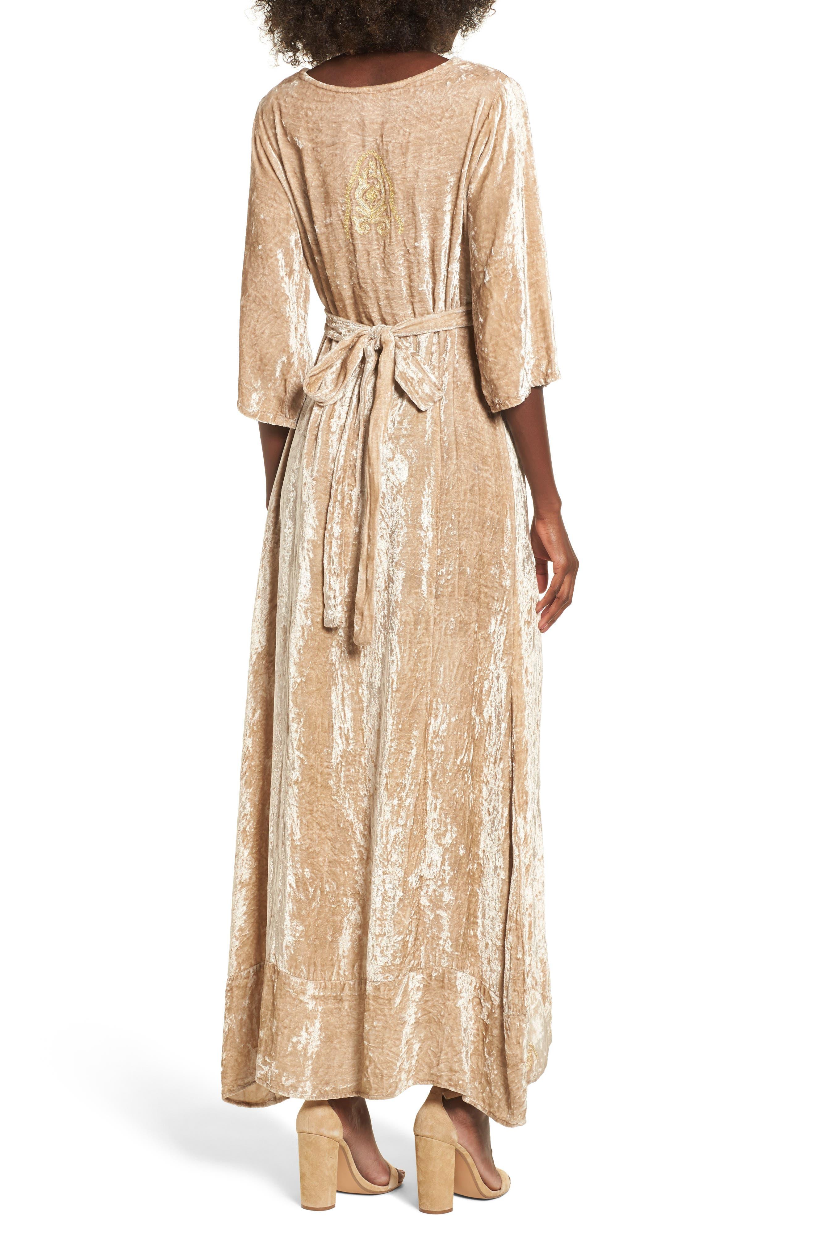 Romantic Visions Velvet Maxi Dress,                             Alternate thumbnail 2, color,