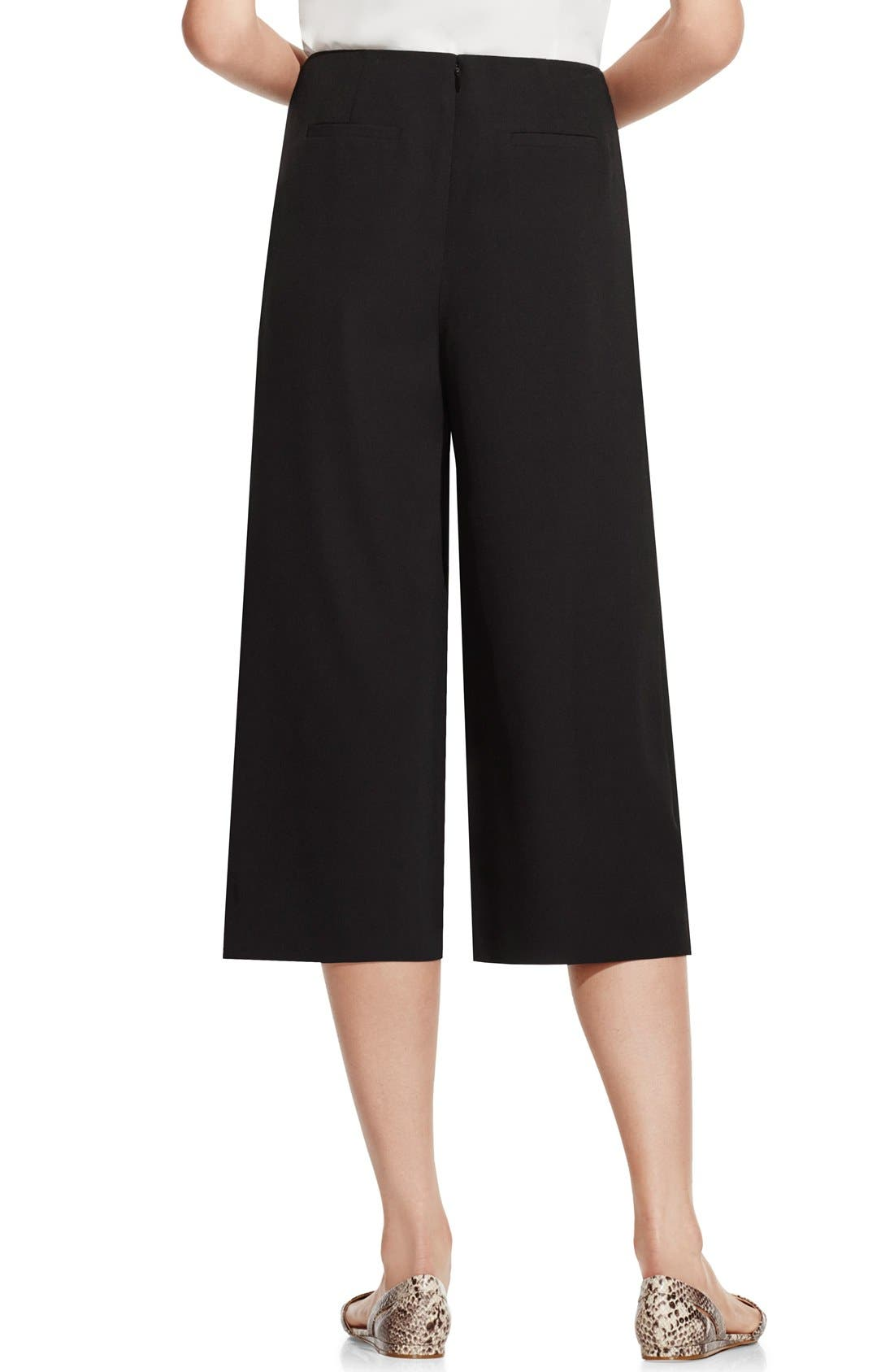 Pleat Waist Culottes,                             Alternate thumbnail 2, color,                             001
