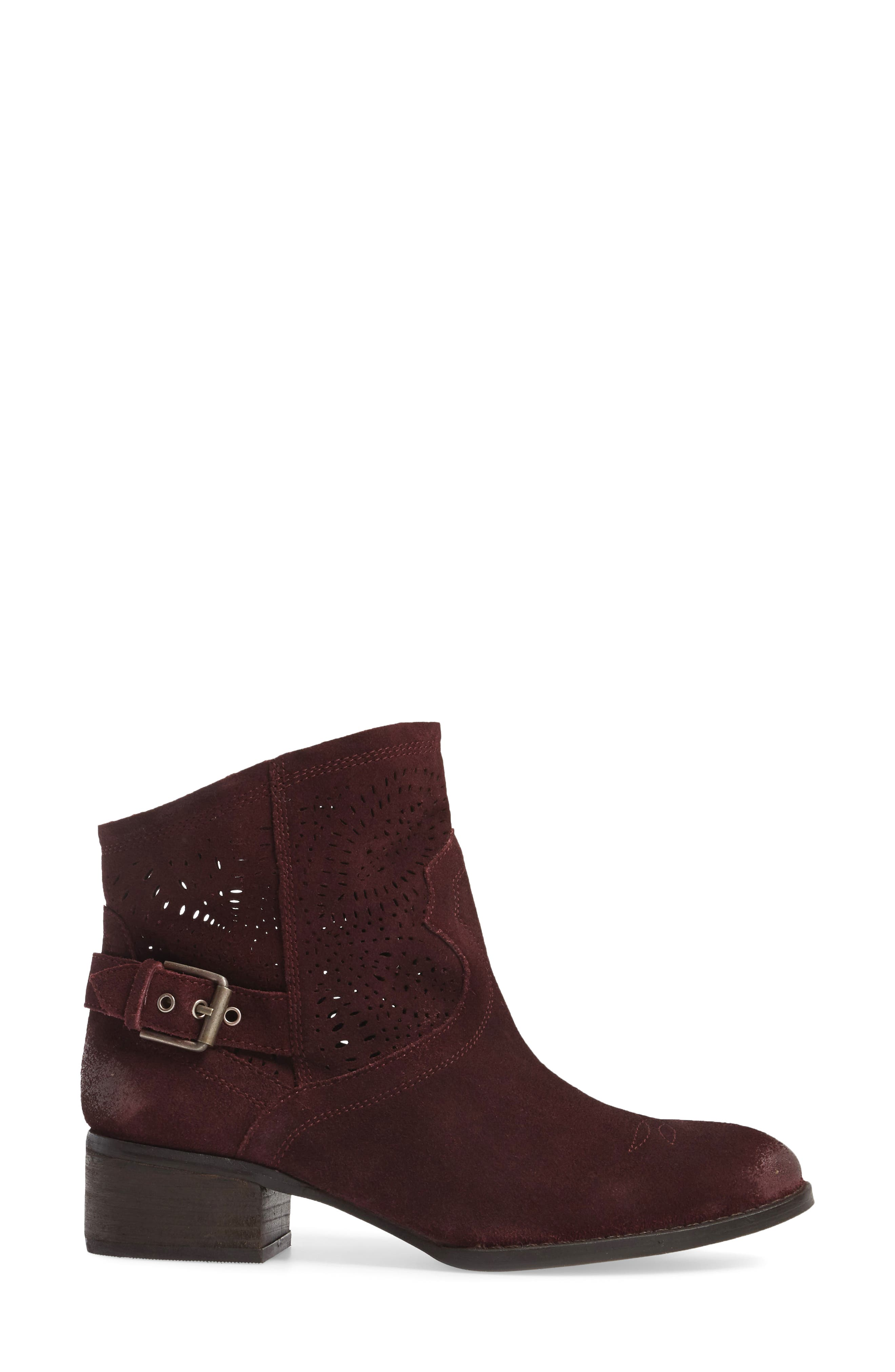 Zoey Perforated Bootie,                             Alternate thumbnail 12, color,