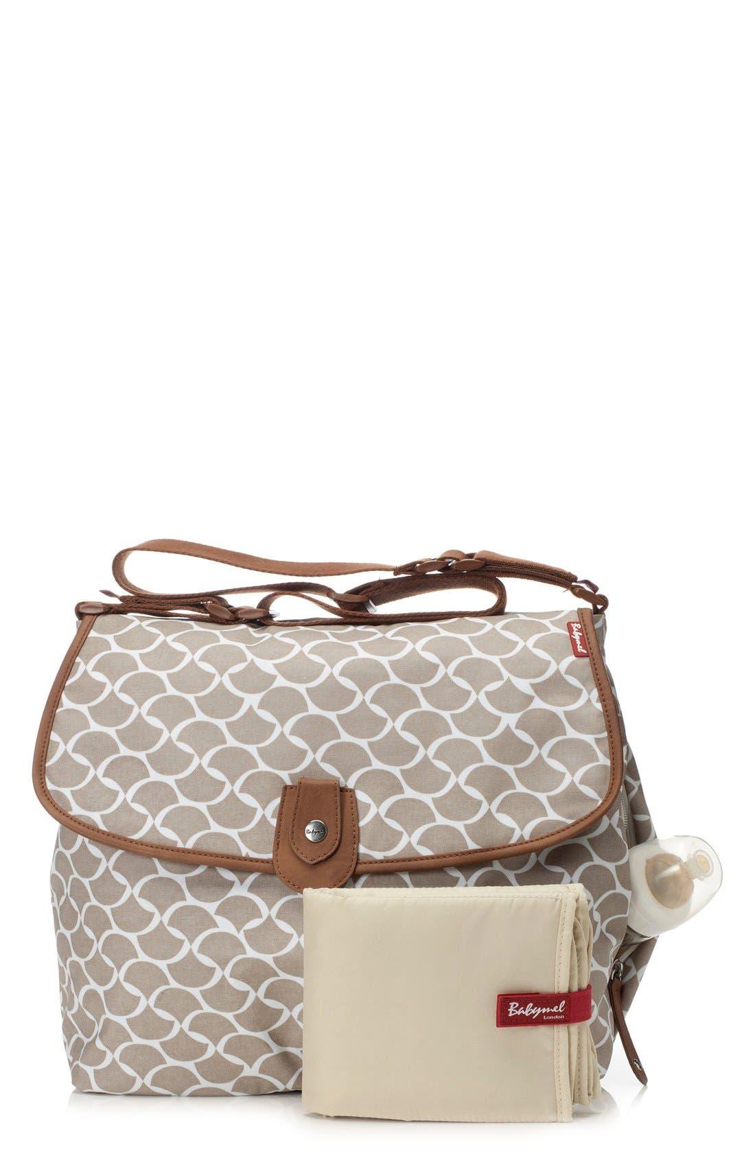 Satchel Wave Fawn Diaper Bag,                             Alternate thumbnail 8, color,